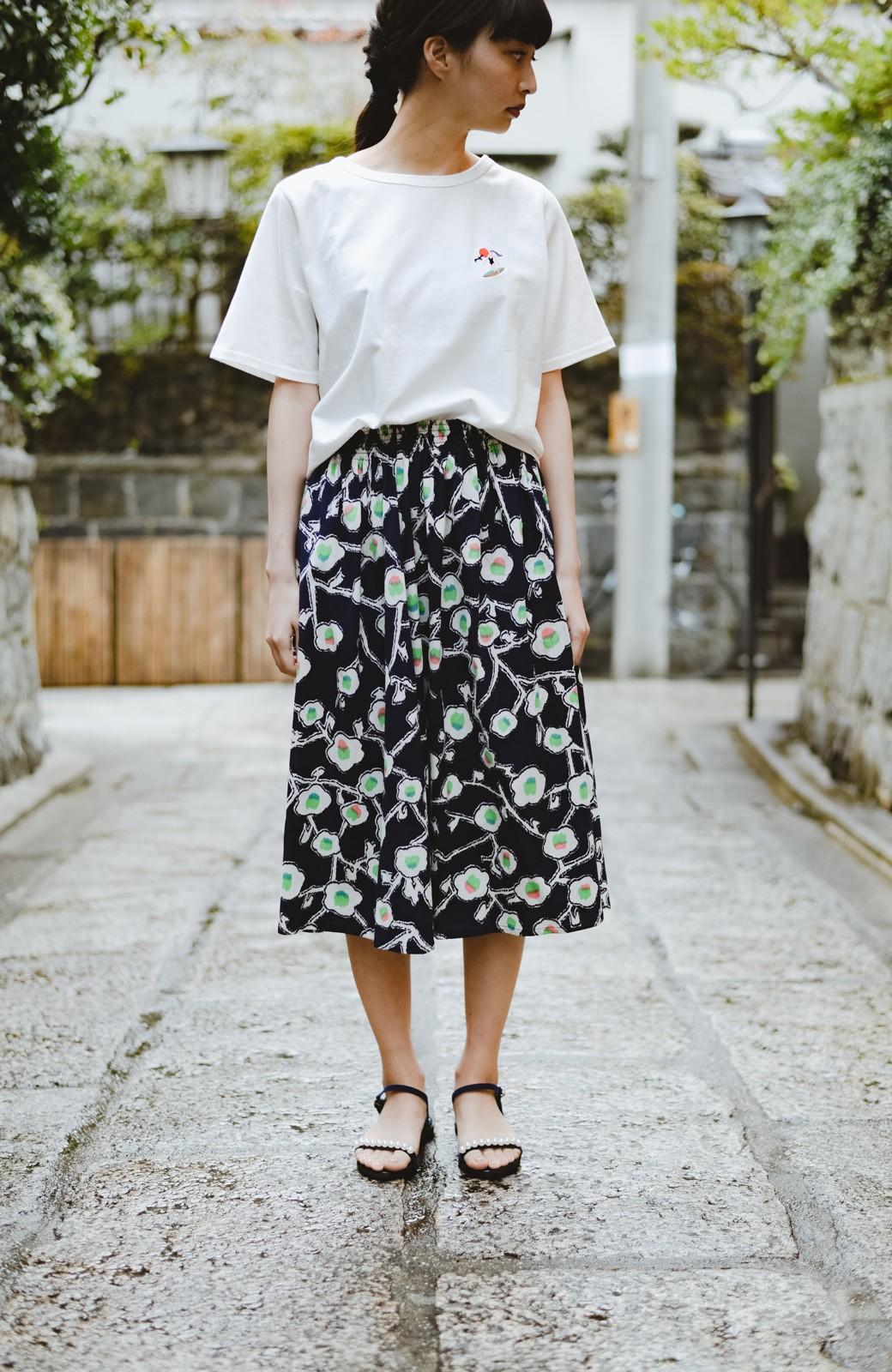 haco! 京都の浴衣屋さんと作った浴衣生地のスカート <ブルー系その他>の商品写真11