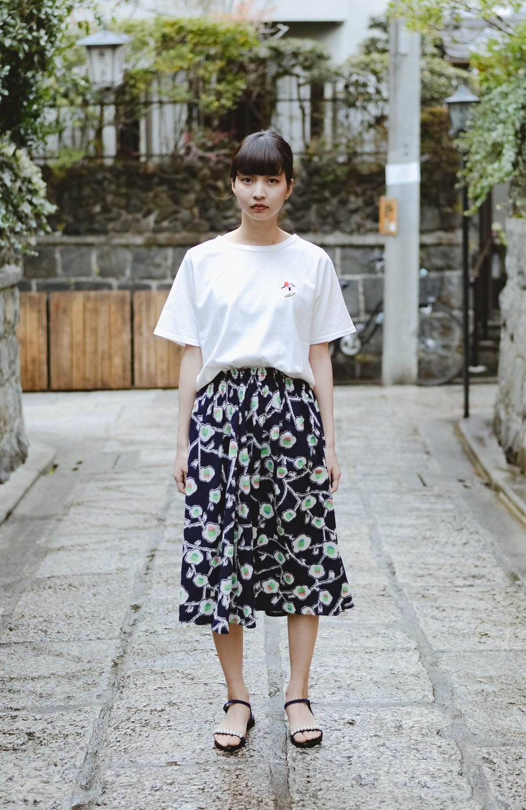 haco! 京都の浴衣屋さんと作った浴衣生地のスカート <ブルー系その他>の商品写真7