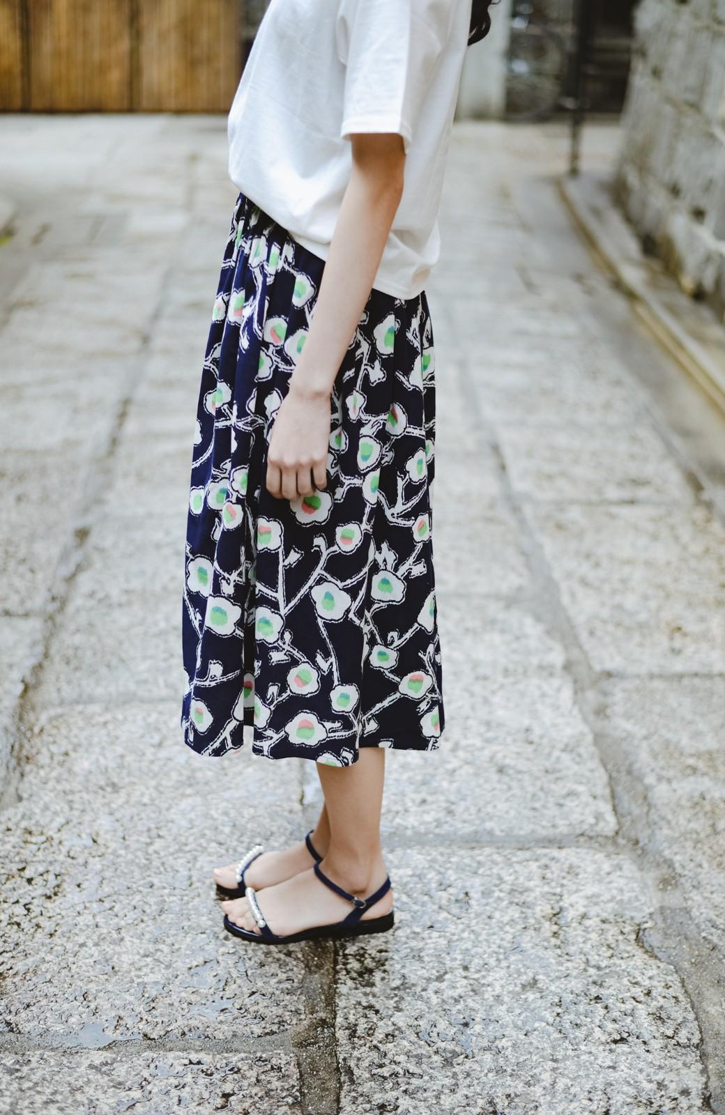 haco! 京都の浴衣屋さんと作った浴衣生地のスカート <ブルー系その他>の商品写真8