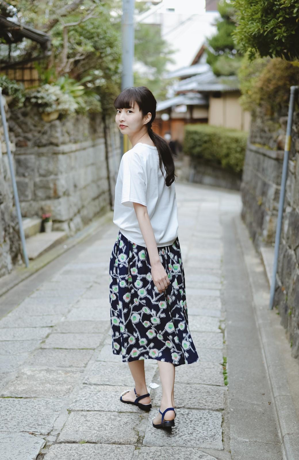 haco! 京都の浴衣屋さんと作った浴衣生地のスカート <ブルー系その他>の商品写真9