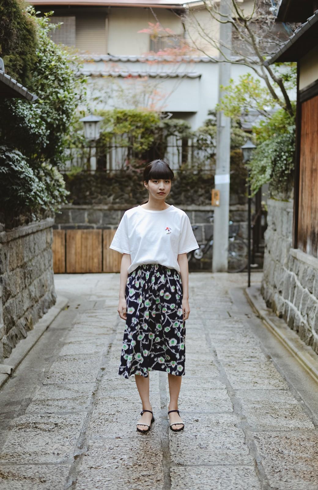 haco! 京都の浴衣屋さんと作った浴衣生地のスカート <ブルー系その他>の商品写真10