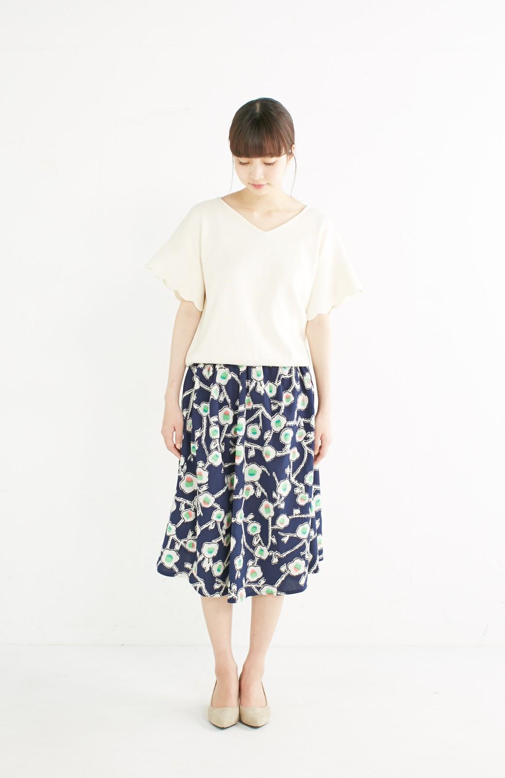 haco! 京都の浴衣屋さんと作った浴衣生地のスカート <ブルー系その他>の商品写真12