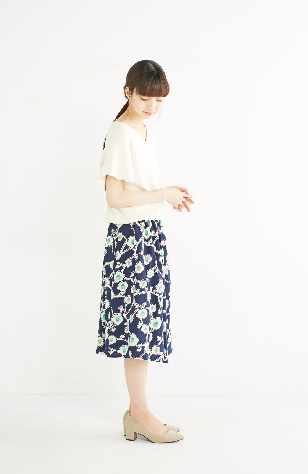 haco! 京都の浴衣屋さんと作った浴衣生地のスカート <ブルー系その他>の商品写真13