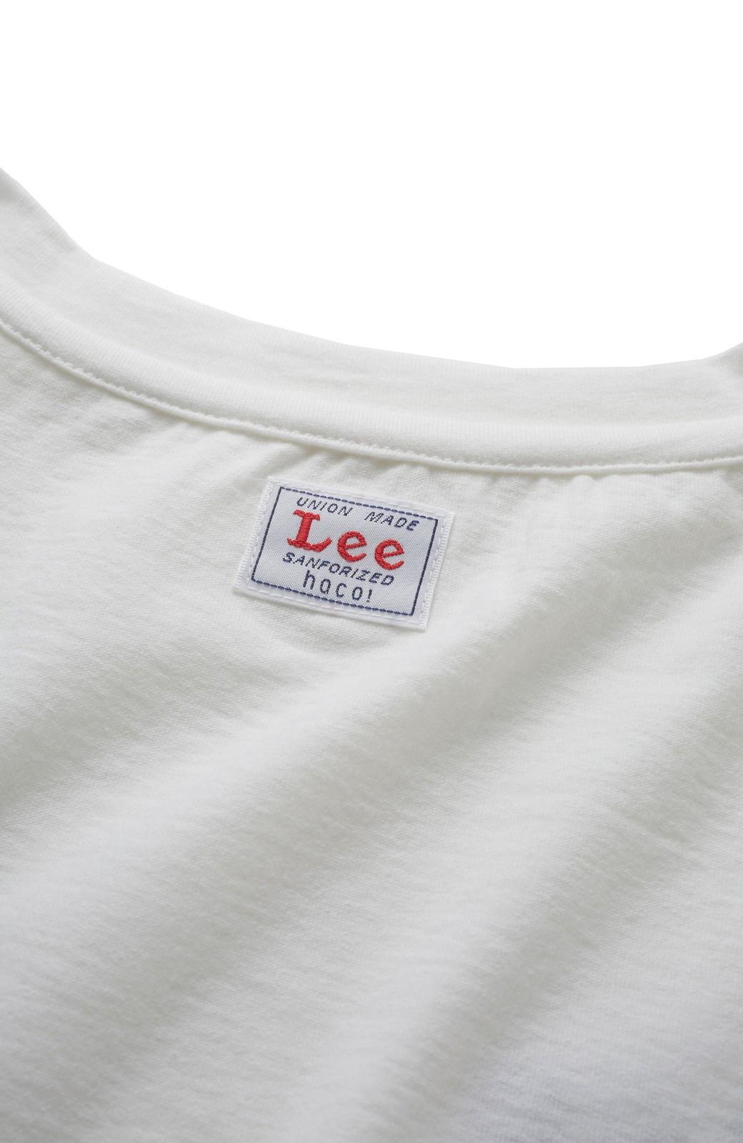 haco! 別注 Lee デニムポケットゆるTシャツ <ホワイト>の商品写真4