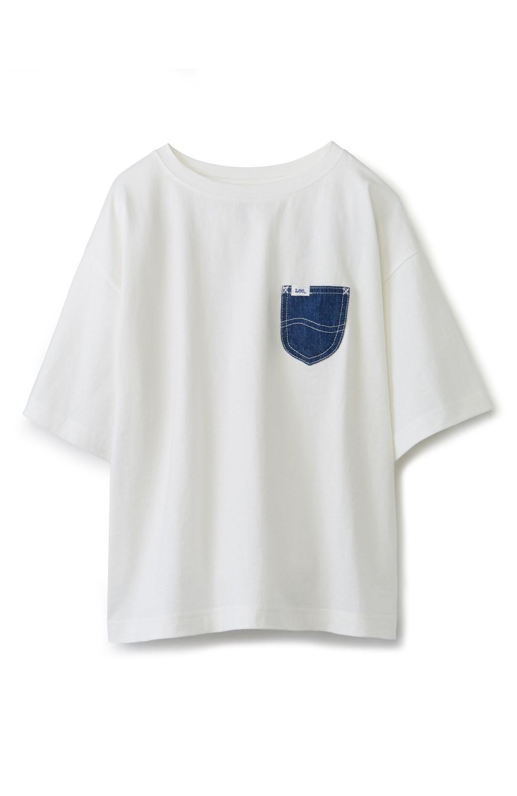 haco! 別注 Lee デニムポケットゆるTシャツ <ホワイト>の商品写真2