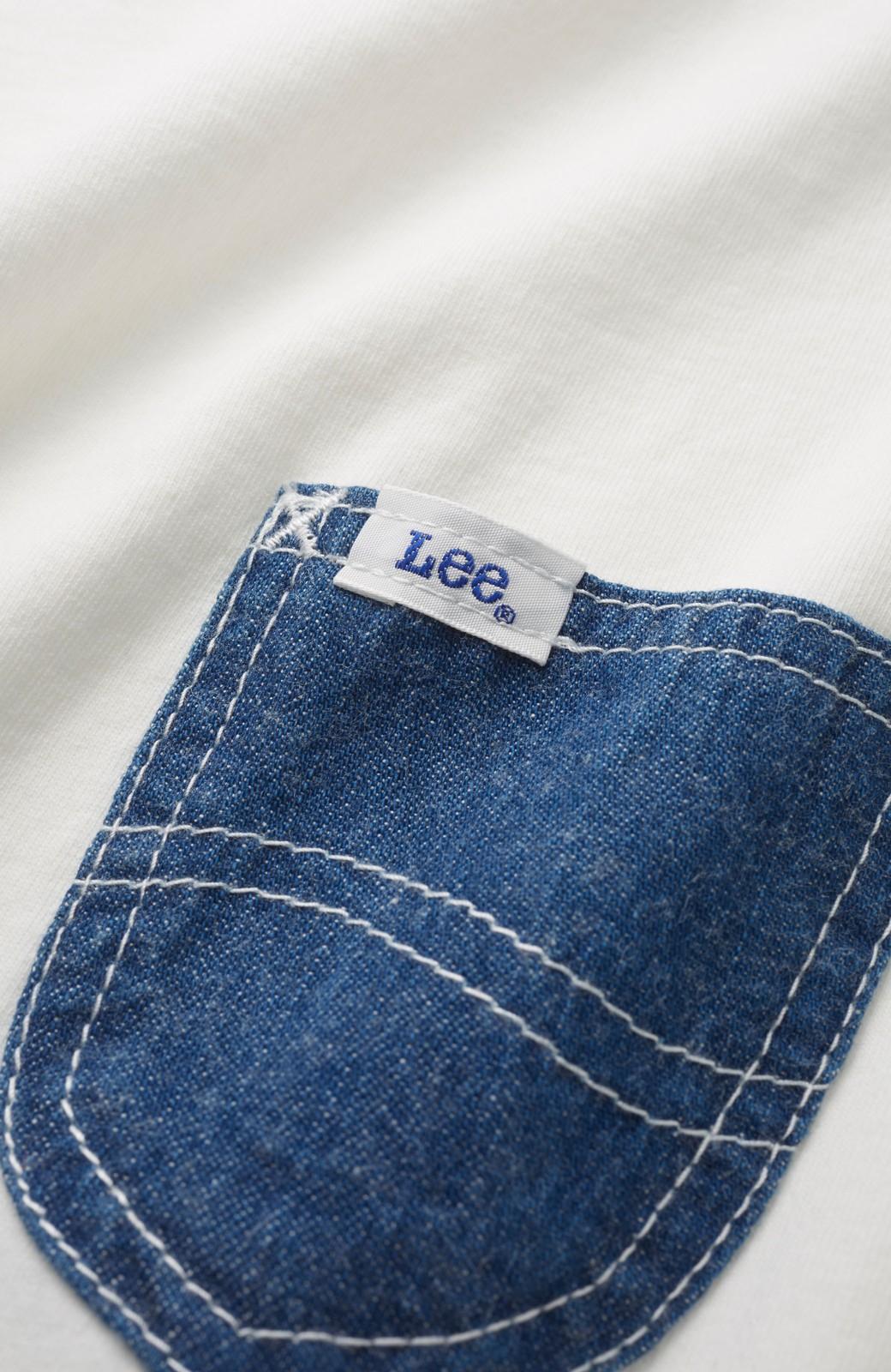 haco! 別注 Lee デニムポケットゆるTシャツ <ホワイト>の商品写真3