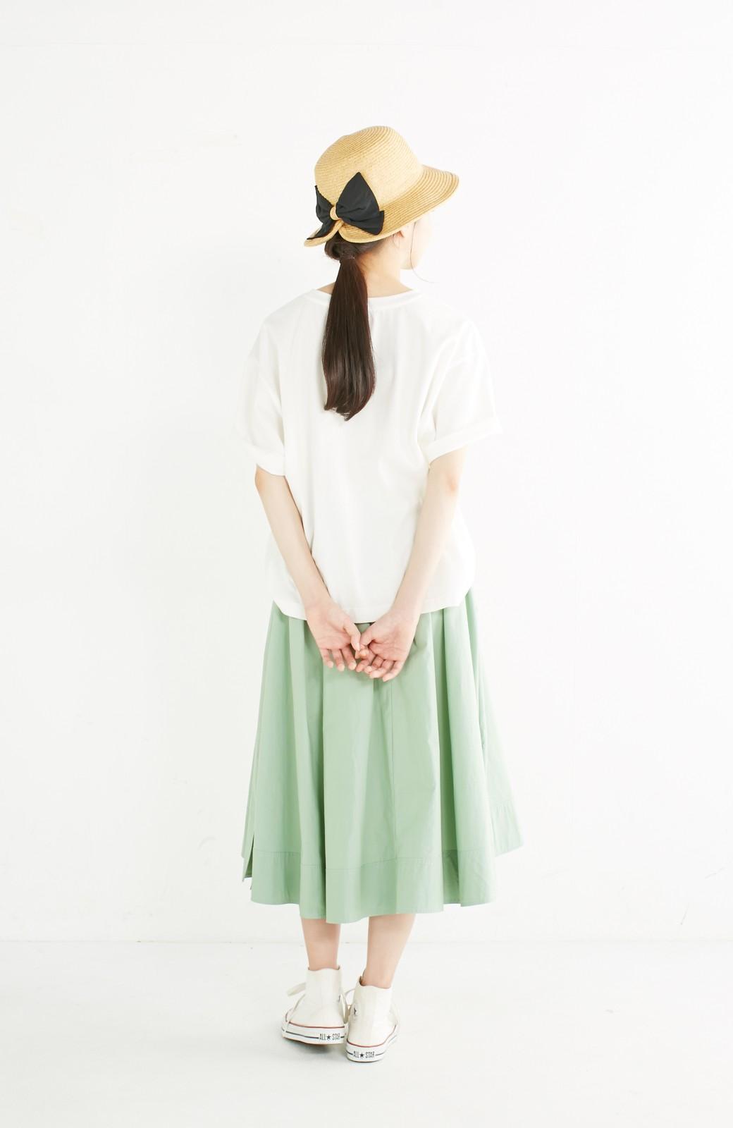haco! 別注 Lee デニムポケットゆるTシャツ <ホワイト>の商品写真8