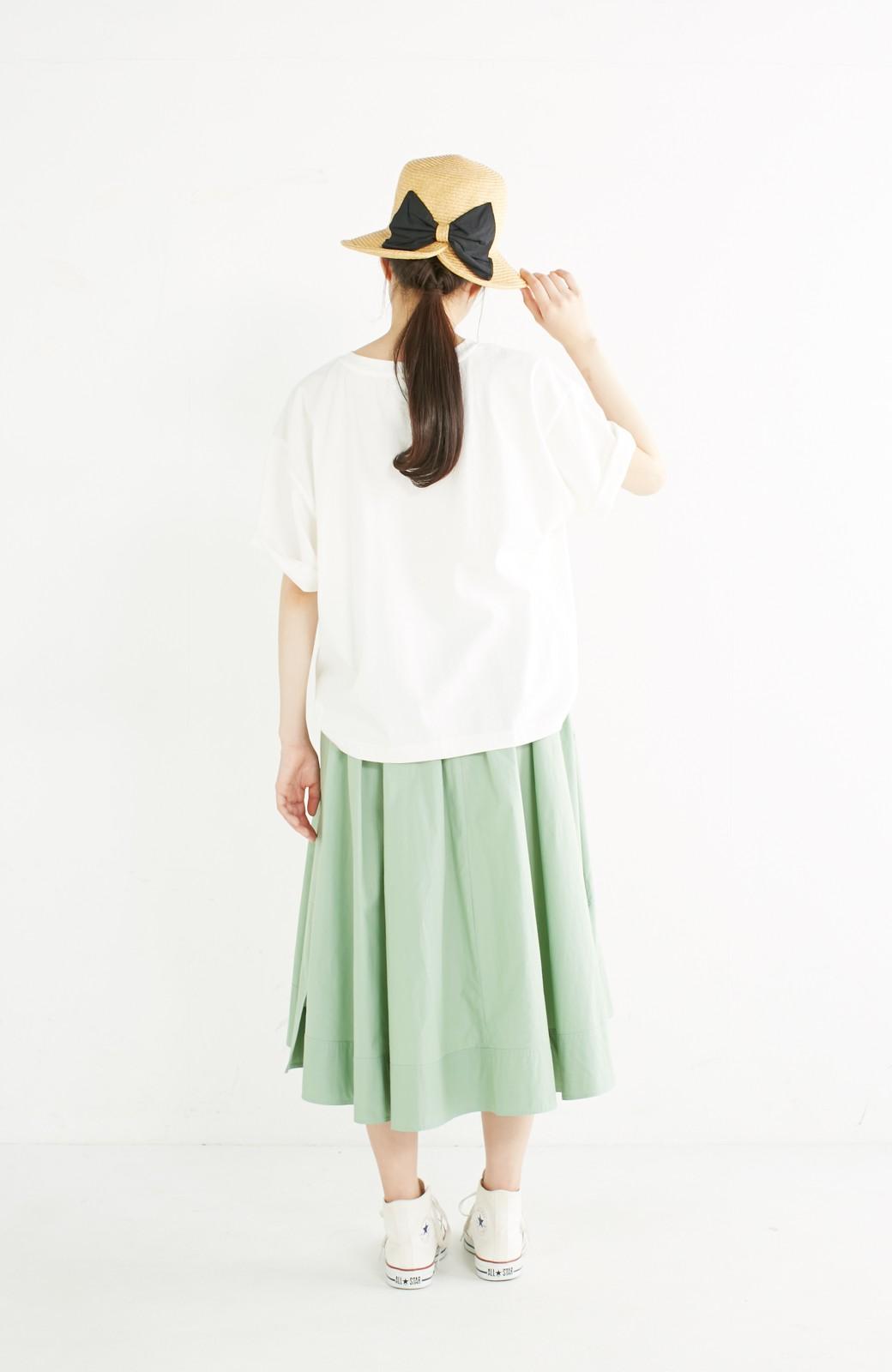 haco! 別注 Lee デニムポケットゆるTシャツ <ホワイト>の商品写真9