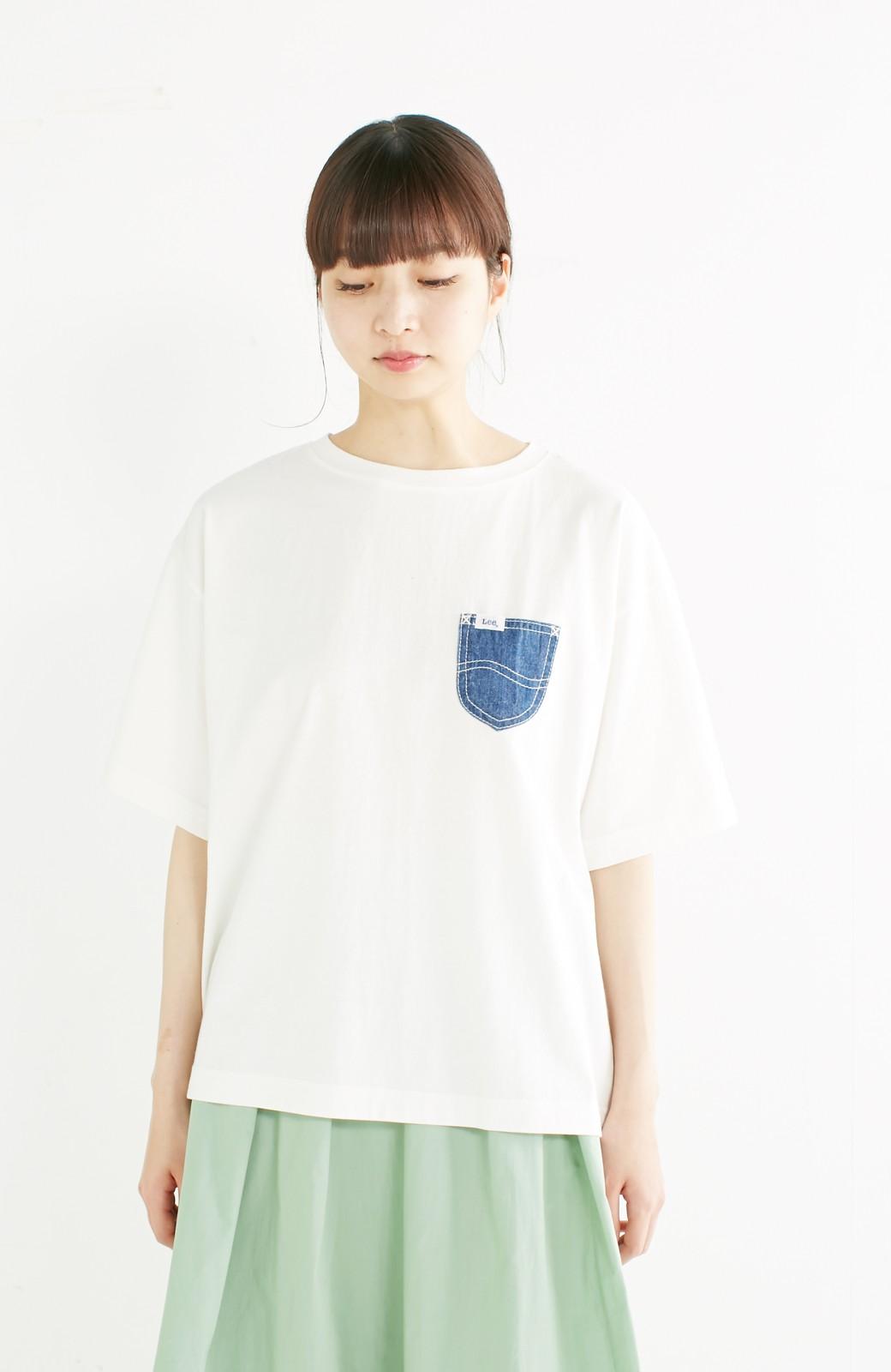 haco! 別注 Lee デニムポケットゆるTシャツ <ホワイト>の商品写真10