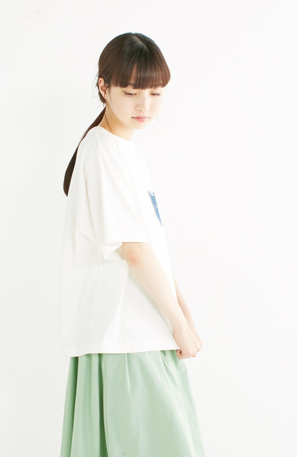 haco! 別注 Lee デニムポケットゆるTシャツ <ホワイト>の商品写真11