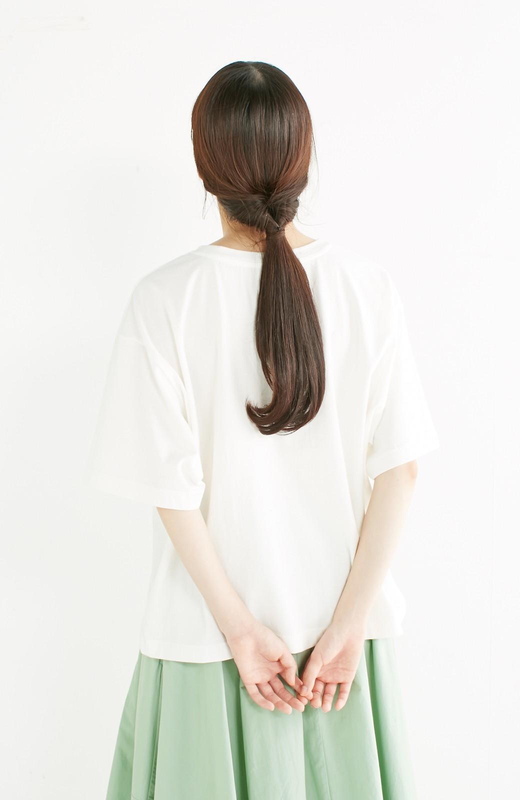 haco! 別注 Lee デニムポケットゆるTシャツ <ホワイト>の商品写真12