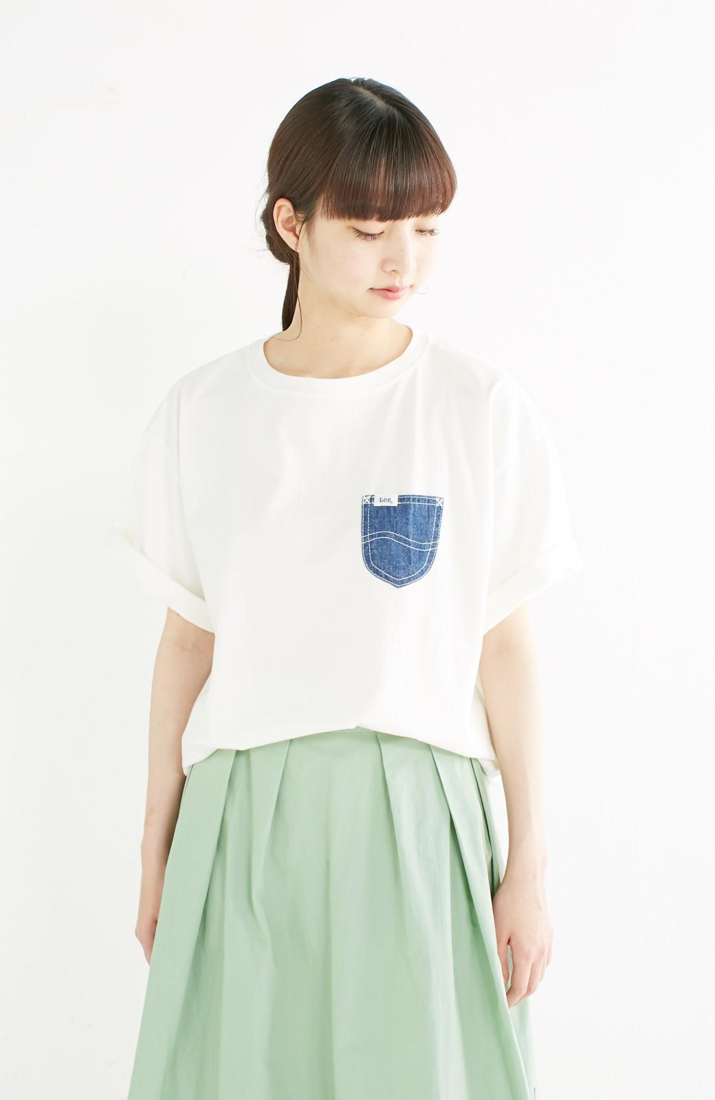 haco! 別注 Lee デニムポケットゆるTシャツ <ホワイト>の商品写真13