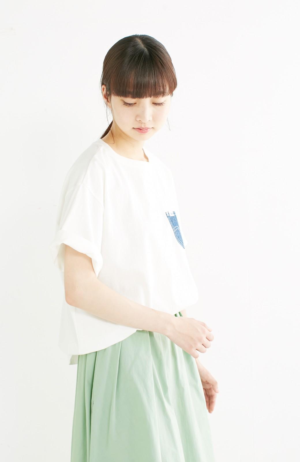 haco! 別注 Lee デニムポケットゆるTシャツ <ホワイト>の商品写真14