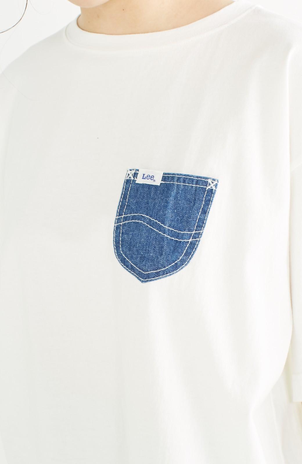 haco! 別注 Lee デニムポケットゆるTシャツ <ホワイト>の商品写真15