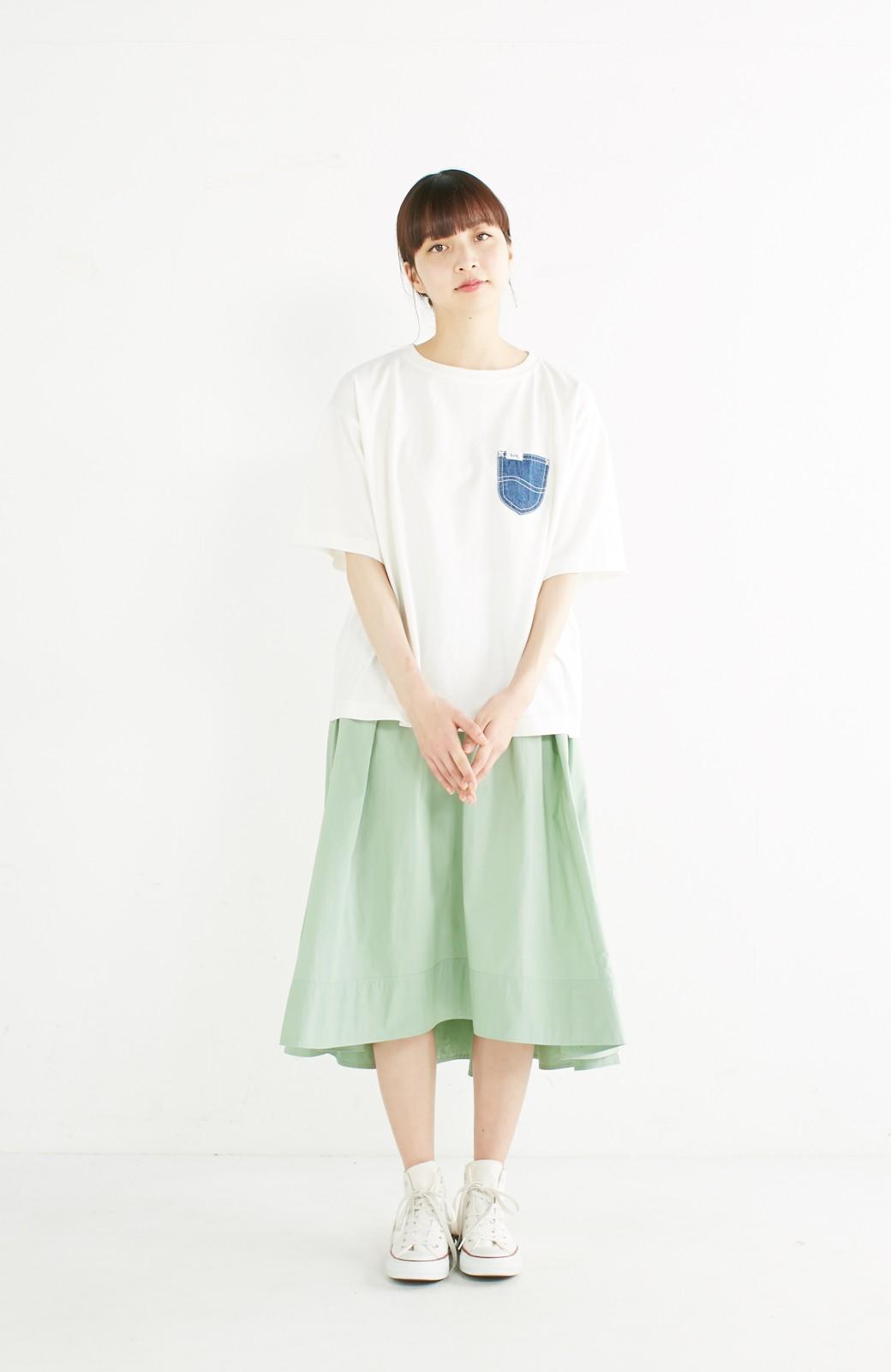 haco! 別注 Lee デニムポケットゆるTシャツ <ホワイト>の商品写真5