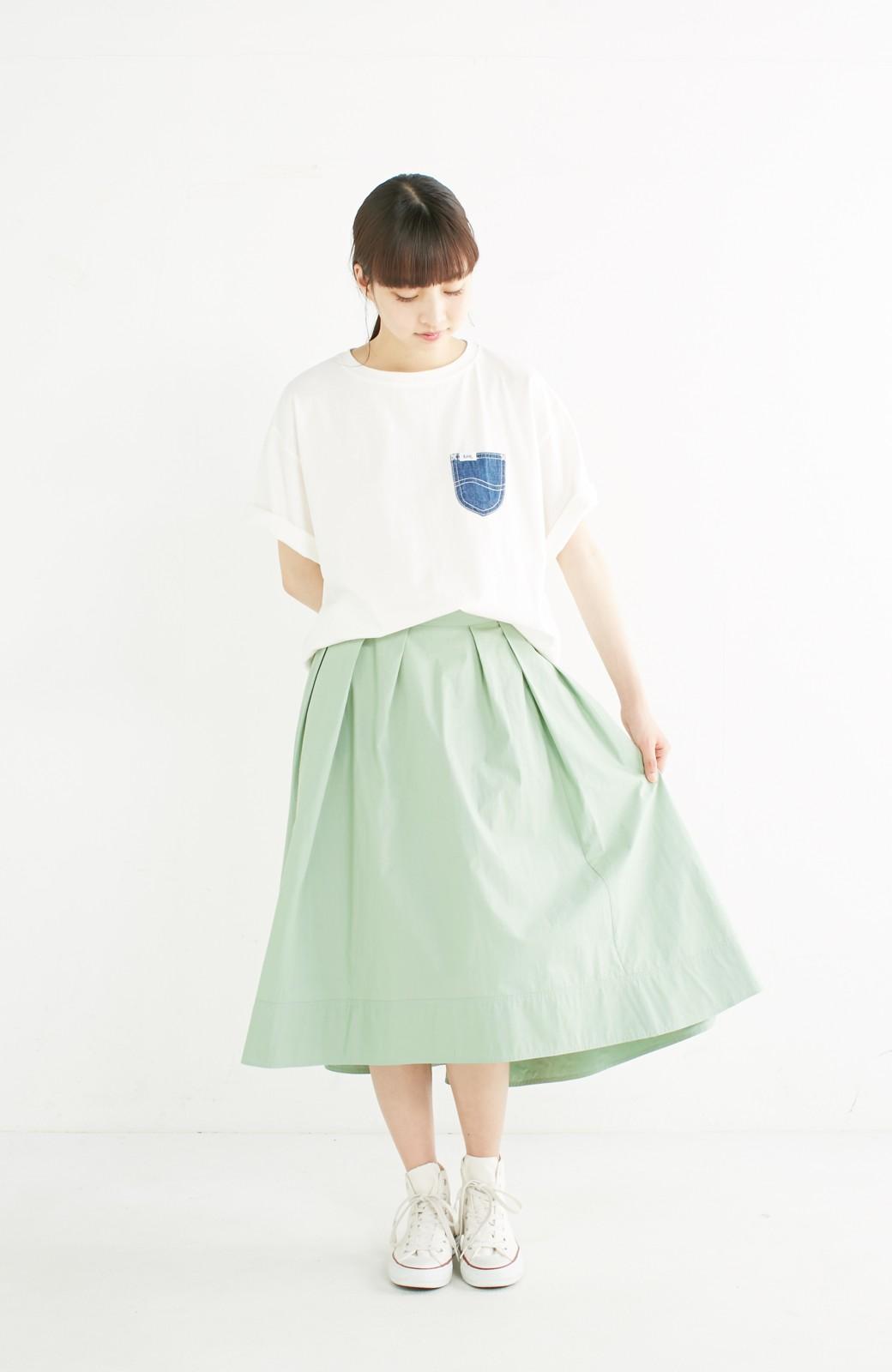 haco! 別注 Lee デニムポケットゆるTシャツ <ホワイト>の商品写真6