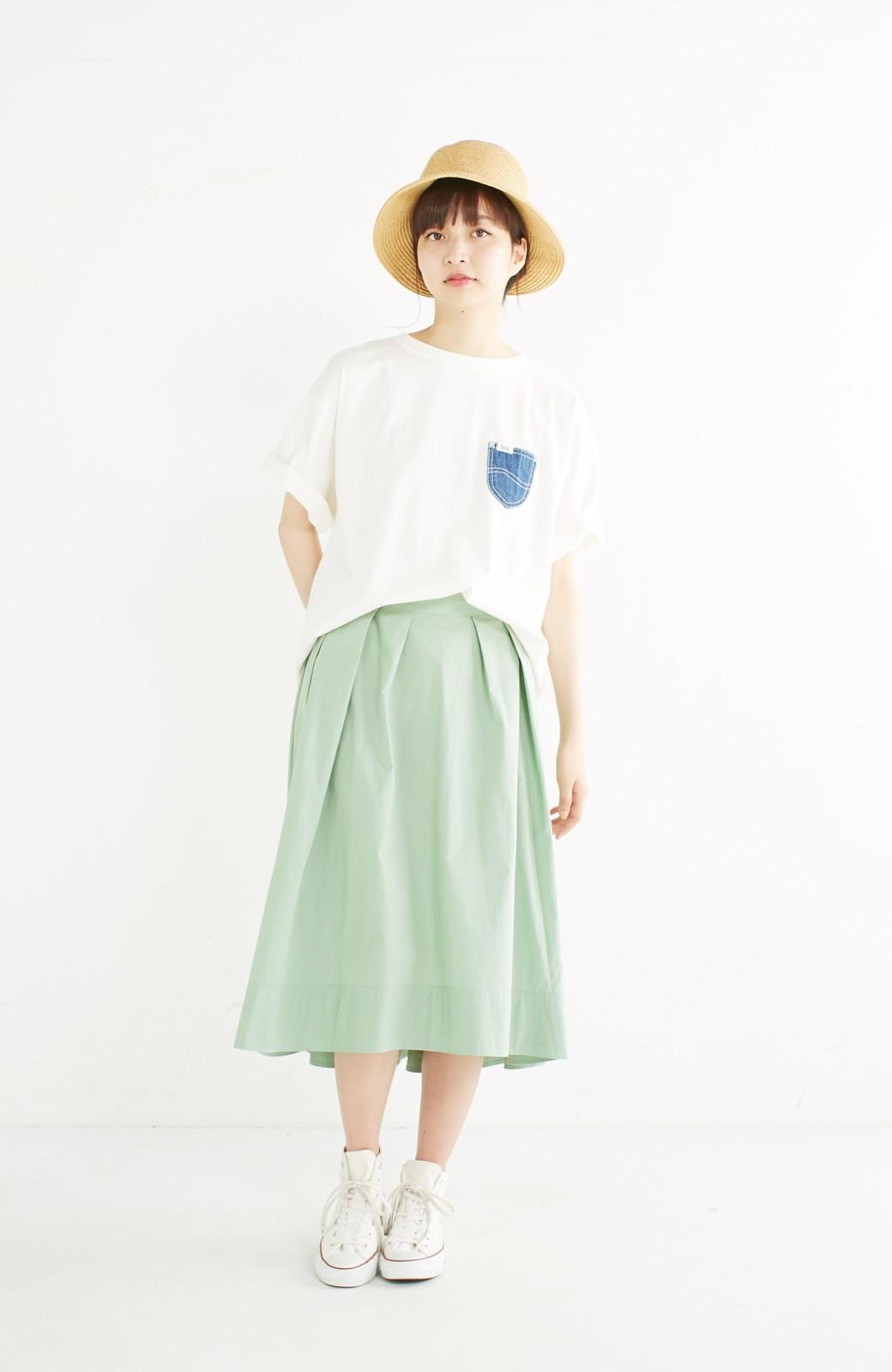 haco! 別注 Lee デニムポケットゆるTシャツ <ホワイト>の商品写真7
