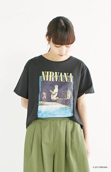 haco! PBP オーガニックコットン妄想ロックフェスTシャツ NIRVANA(レディース) <スミクロ>の商品写真