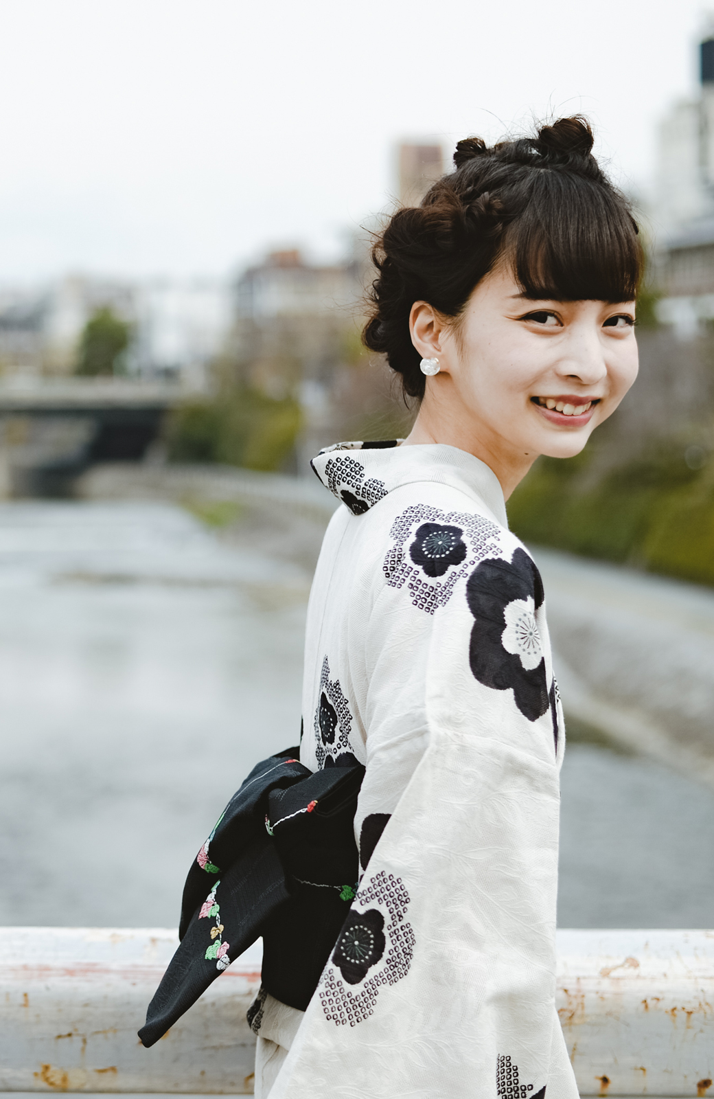 haco! ひでや工房 京都のからみ織ジャカード浴衣 <ブラック系その他>の商品写真13