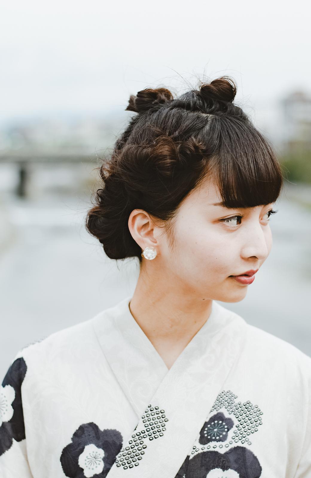 haco! ひでや工房 京都のからみ織ジャカード浴衣 <ブラック系その他>の商品写真14