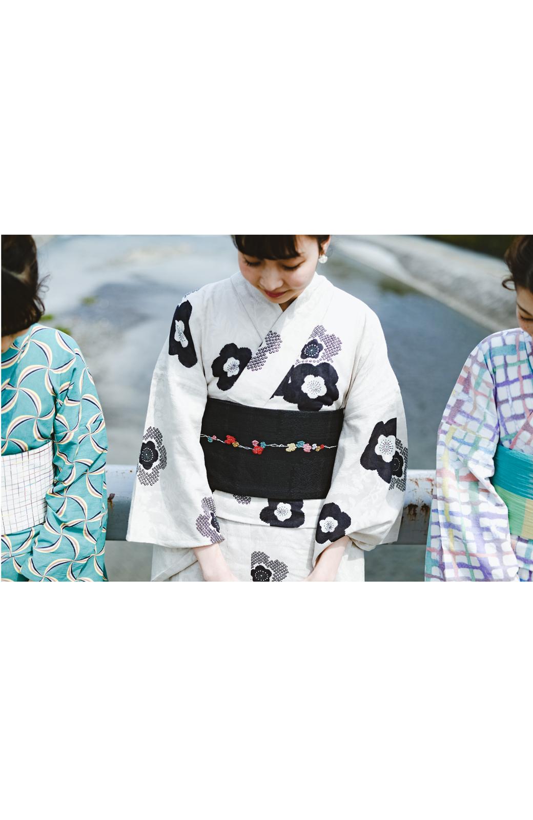 haco! ひでや工房 京都のからみ織ジャカード浴衣 <ブラック系その他>の商品写真15