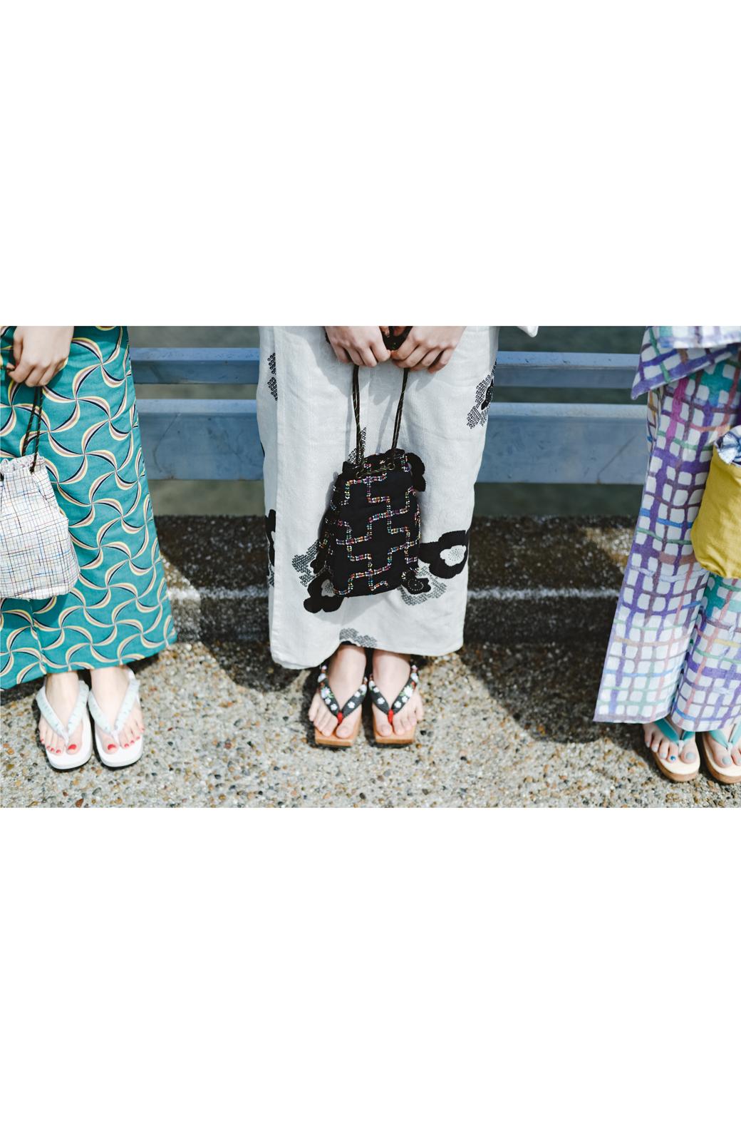 haco! ひでや工房 京都のからみ織ジャカード浴衣 <ブラック系その他>の商品写真16