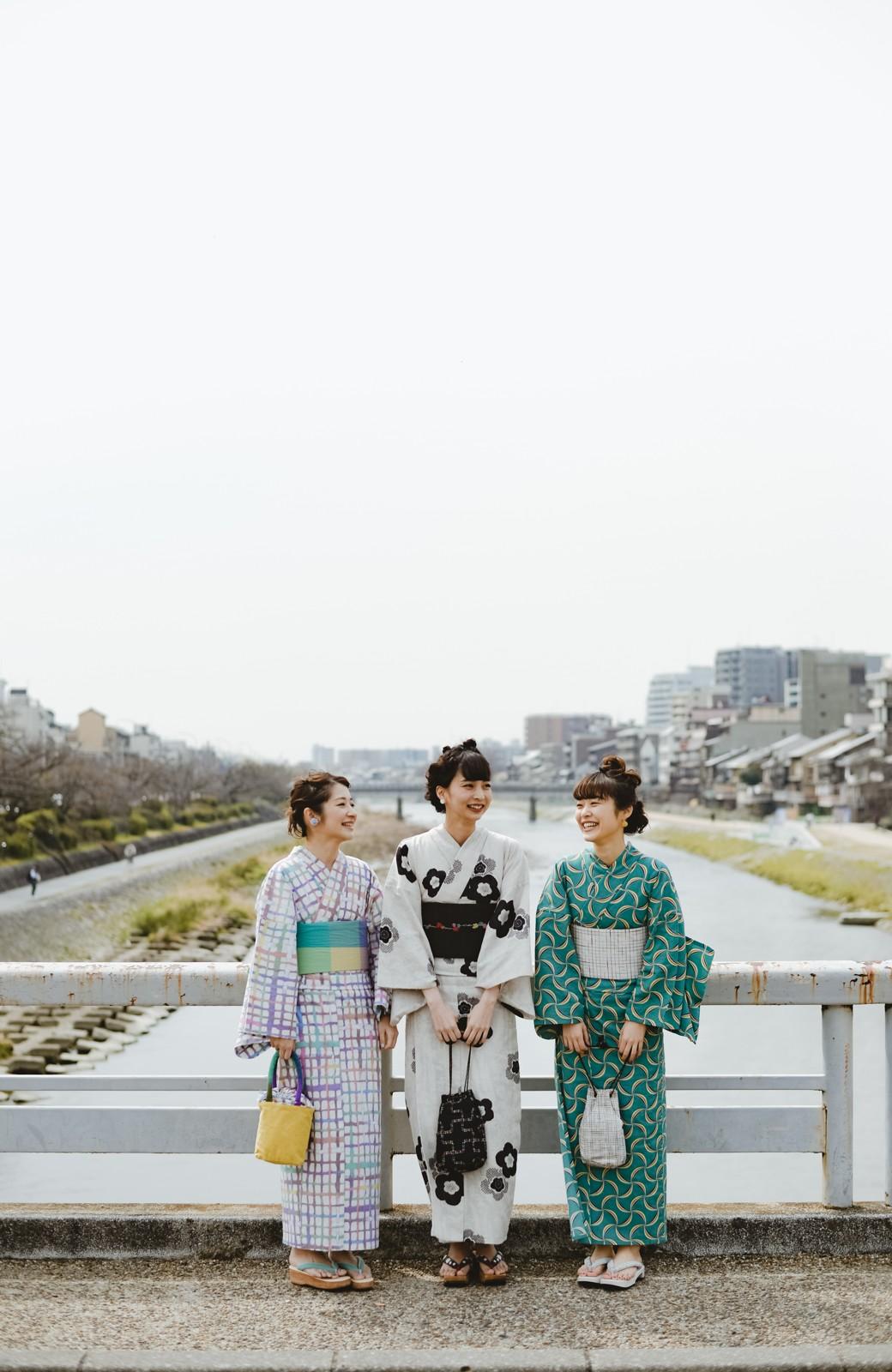 haco! ひでや工房 京都のからみ織ジャカード浴衣 <ブラック系その他>の商品写真17