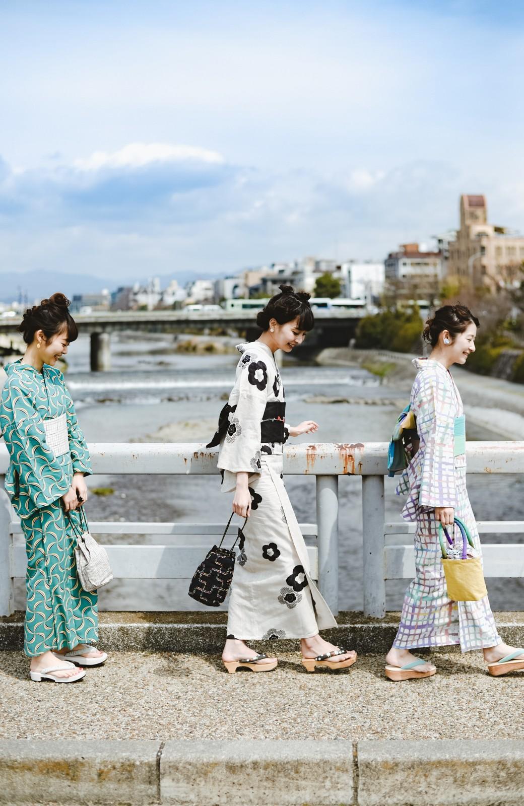 haco! ひでや工房 京都のからみ織ジャカード浴衣 <ブラック系その他>の商品写真19