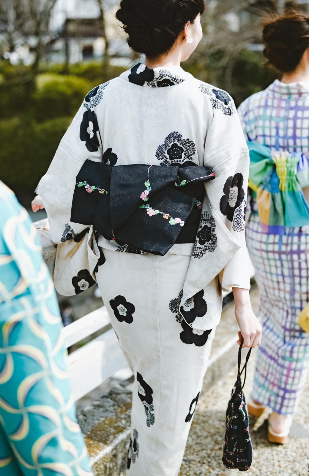 haco! ひでや工房 京都のからみ織ジャカード浴衣 <ブラック系その他>の商品写真20