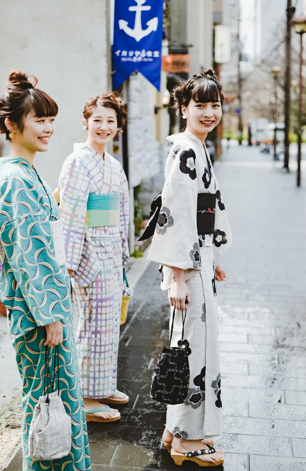 haco! ひでや工房 京都のからみ織ジャカード浴衣 <ブラック系その他>の商品写真22