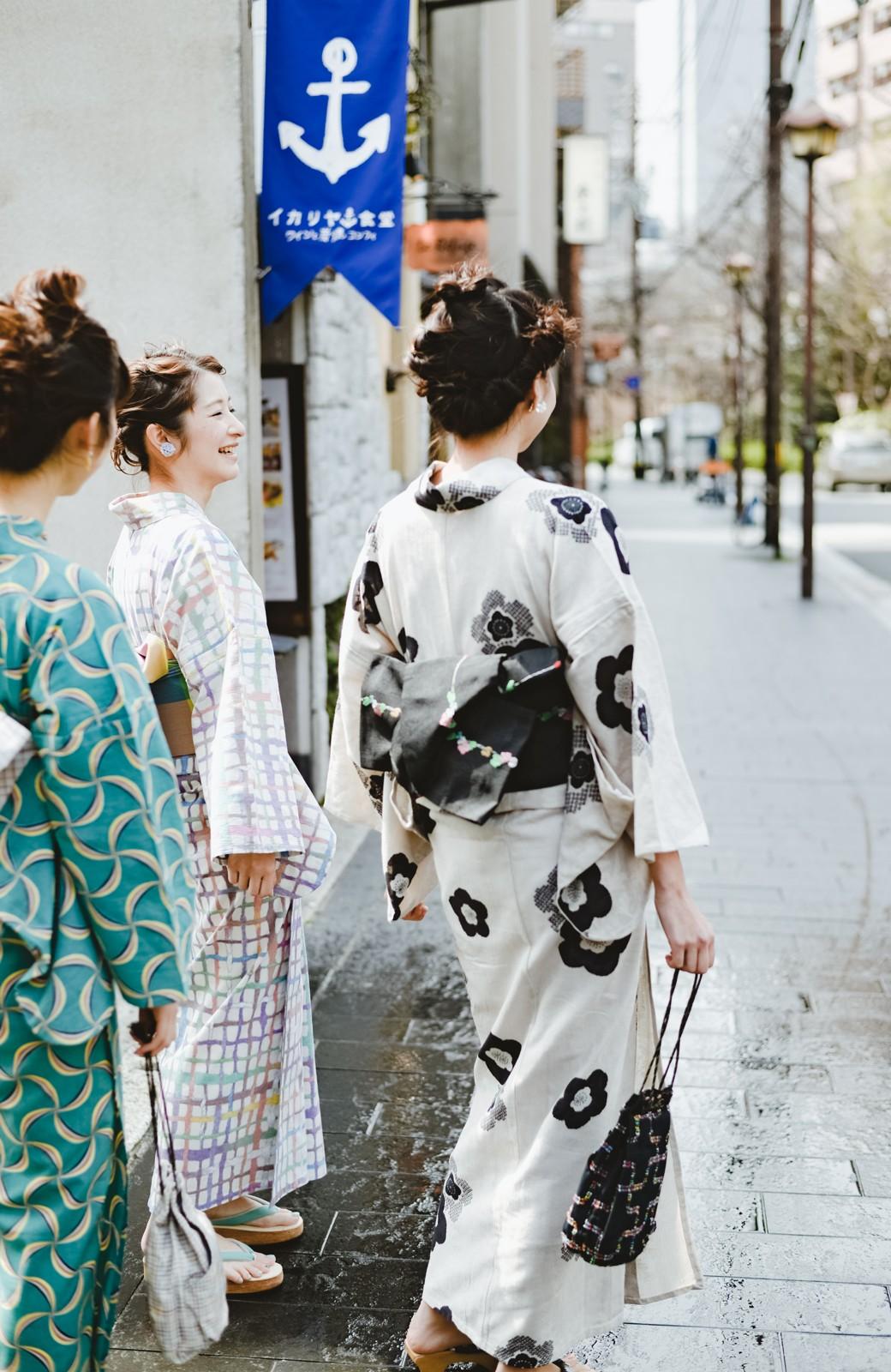 haco! ひでや工房 京都のからみ織ジャカード浴衣 <ブラック系その他>の商品写真23