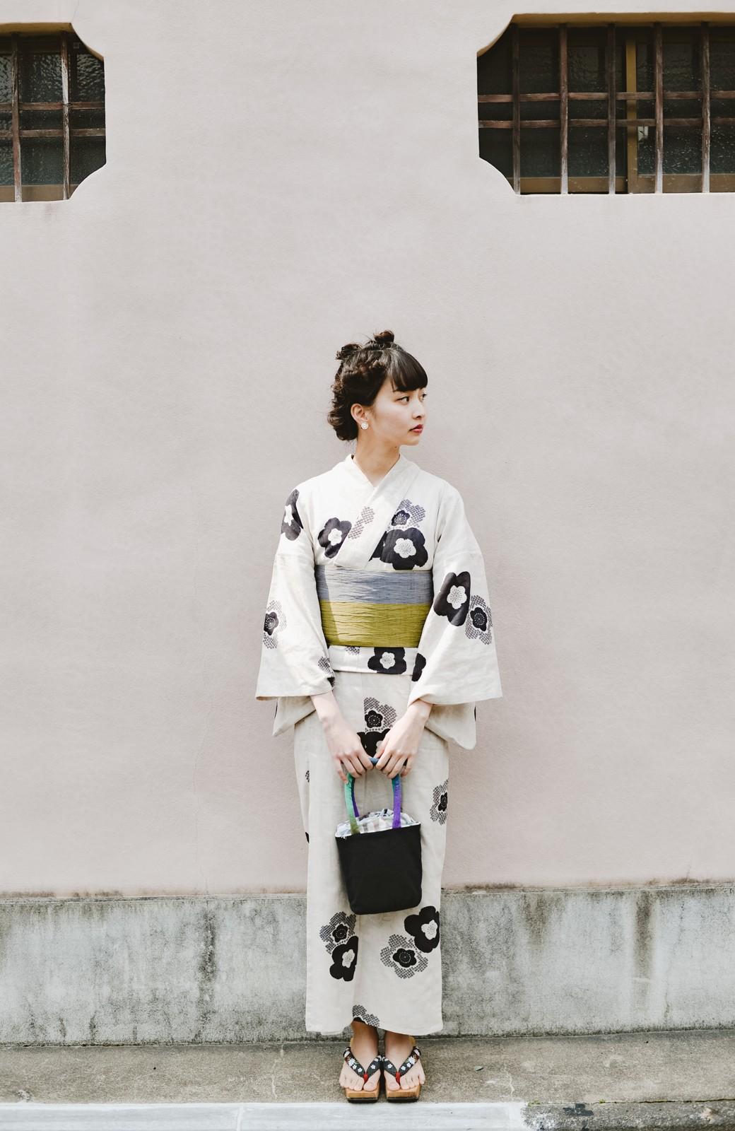 haco! ひでや工房 京都のからみ織ジャカード浴衣 <ブラック系その他>の商品写真26