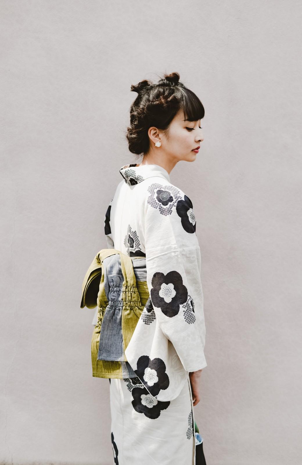 haco! ひでや工房 京都のからみ織ジャカード浴衣 <ブラック系その他>の商品写真27