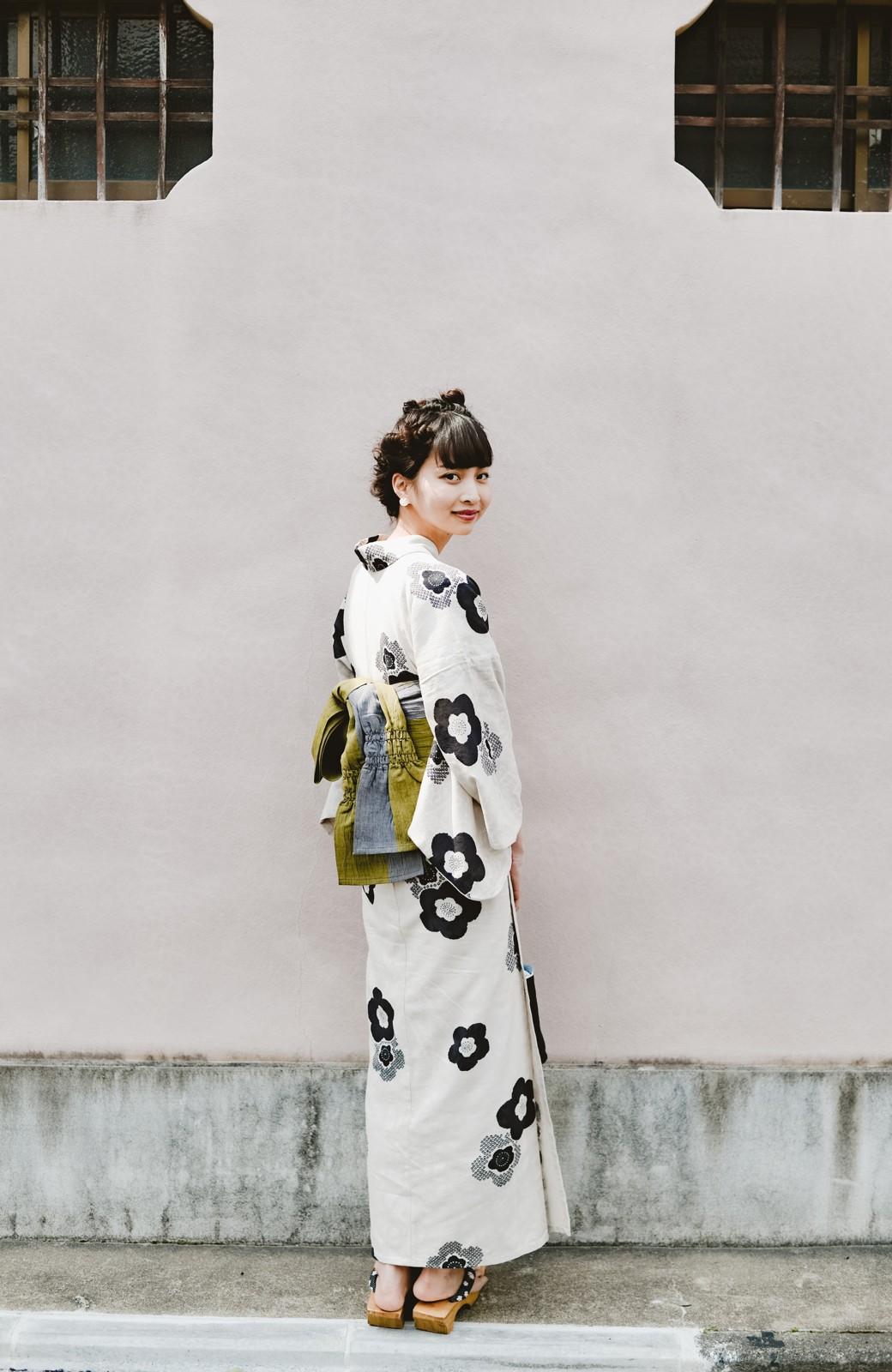 haco! ひでや工房 京都のからみ織ジャカード浴衣 <ブラック系その他>の商品写真28