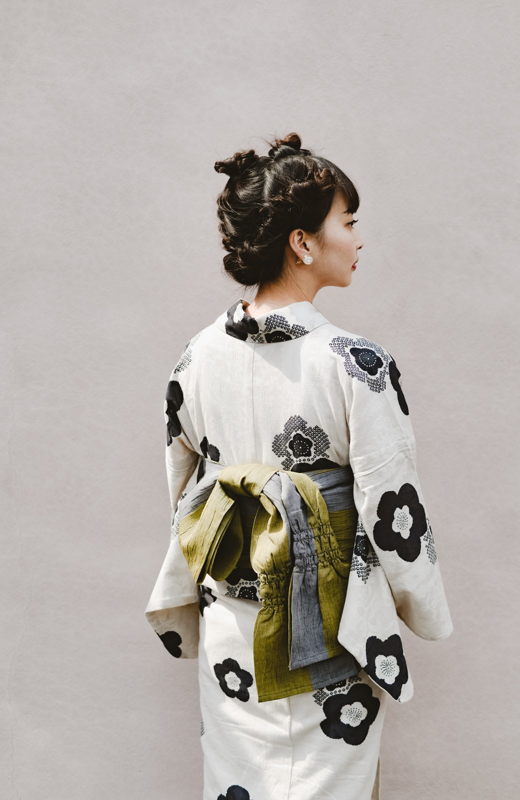 haco! ひでや工房 京都のからみ織ジャカード浴衣 <ブラック系その他>の商品写真29