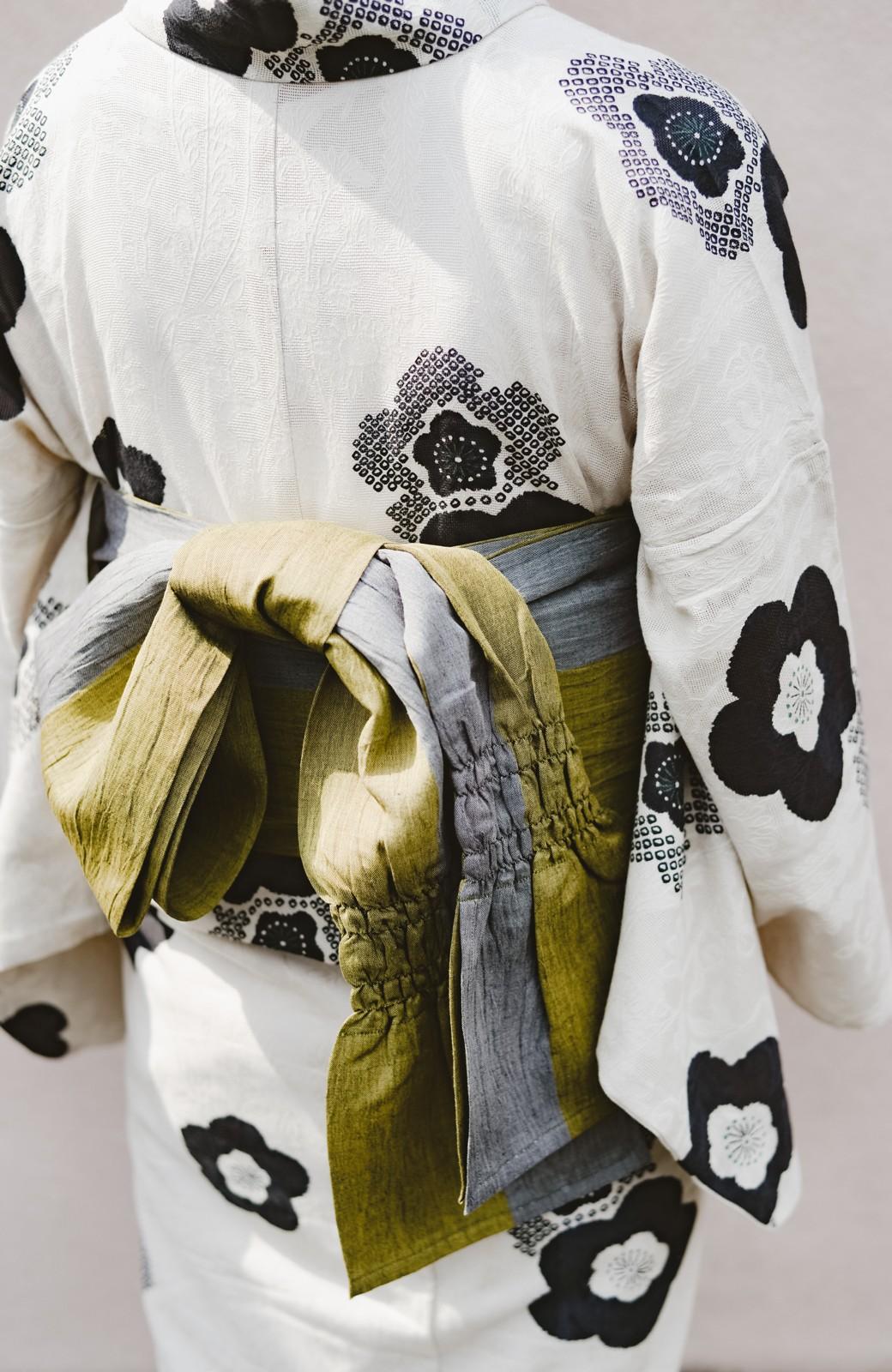 haco! ひでや工房 京都のからみ織ジャカード浴衣 <ブラック系その他>の商品写真30