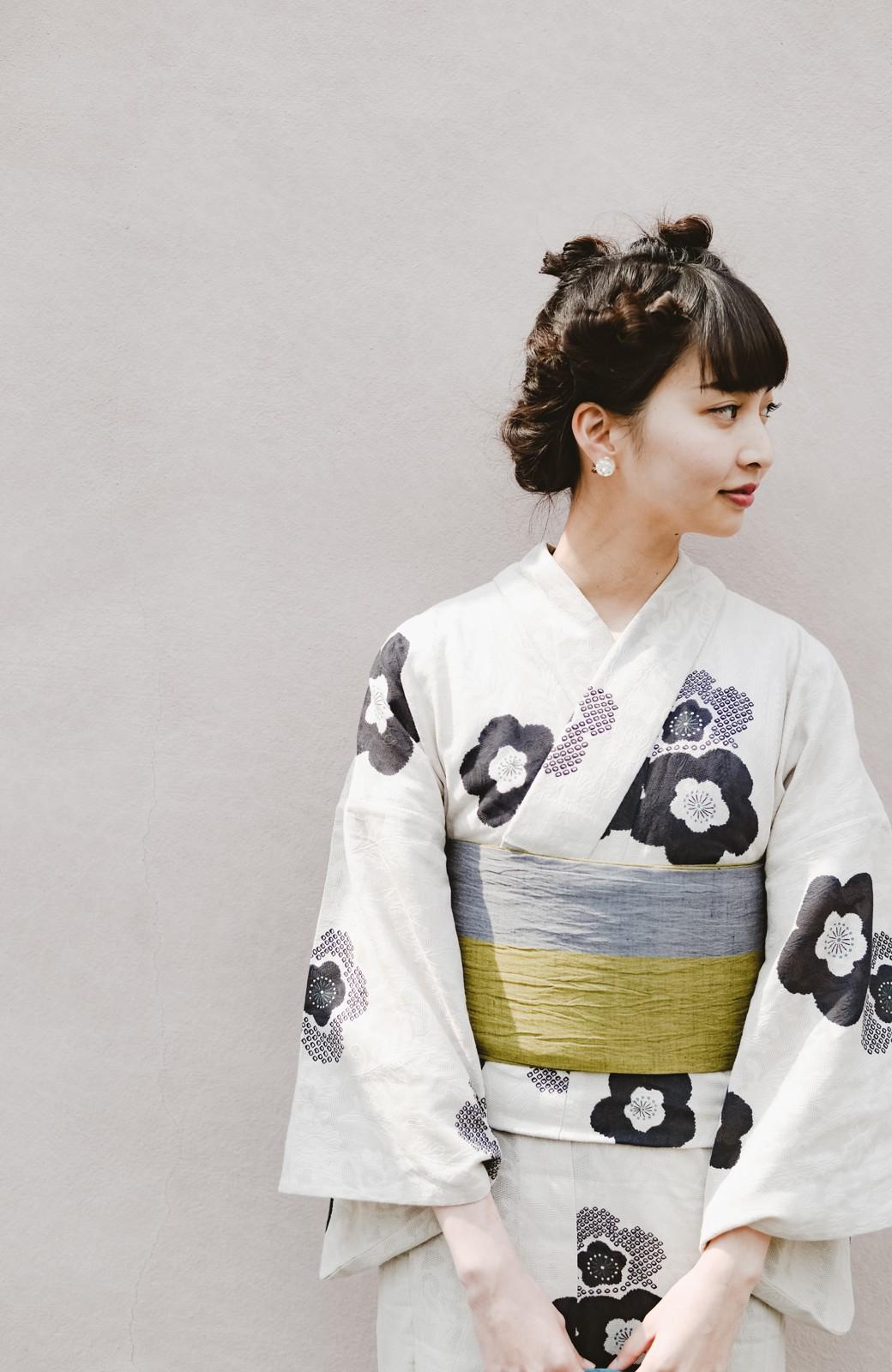 haco! ひでや工房 京都のからみ織ジャカード浴衣 <ブラック系その他>の商品写真31