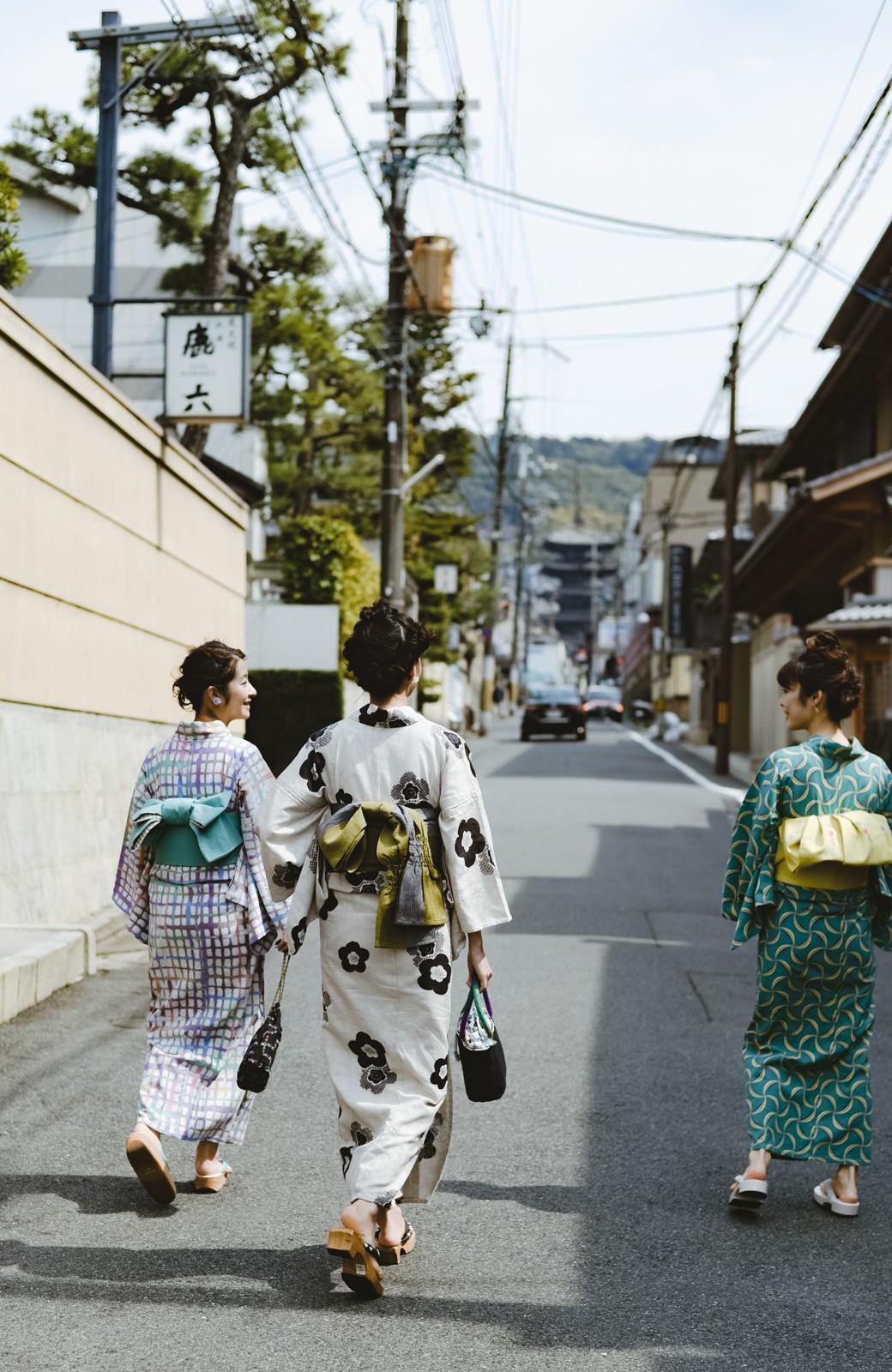 haco! ひでや工房 京都のからみ織ジャカード浴衣 <ブラック系その他>の商品写真34