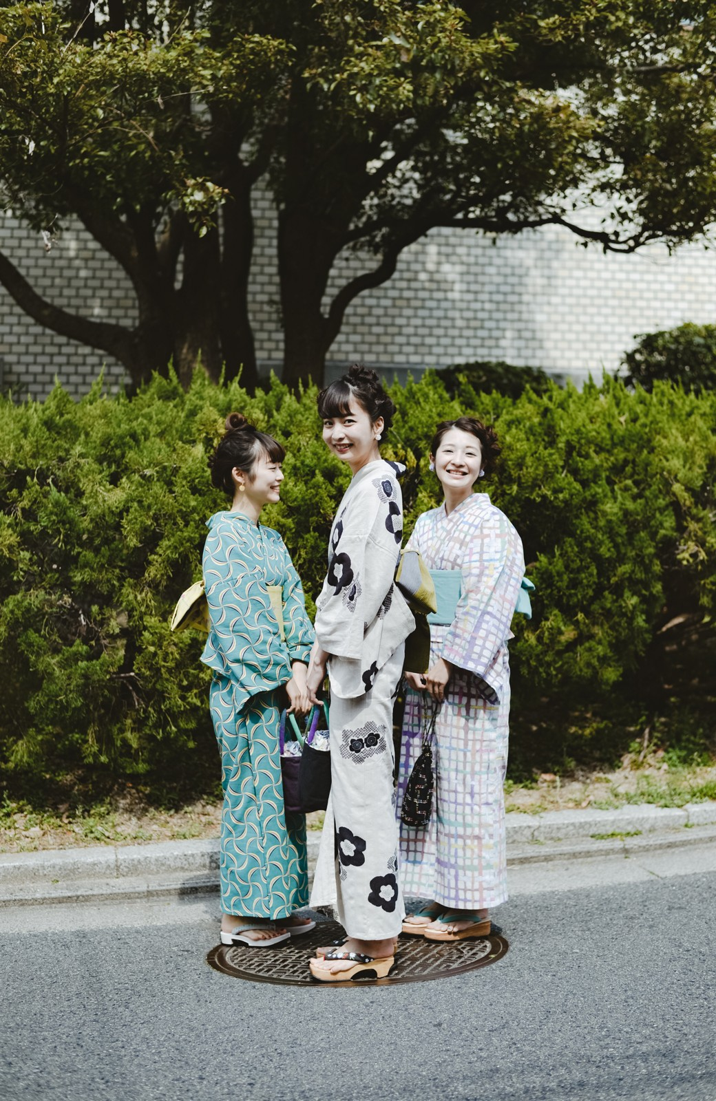 haco! ひでや工房 京都のからみ織ジャカード浴衣 <ブラック系その他>の商品写真35
