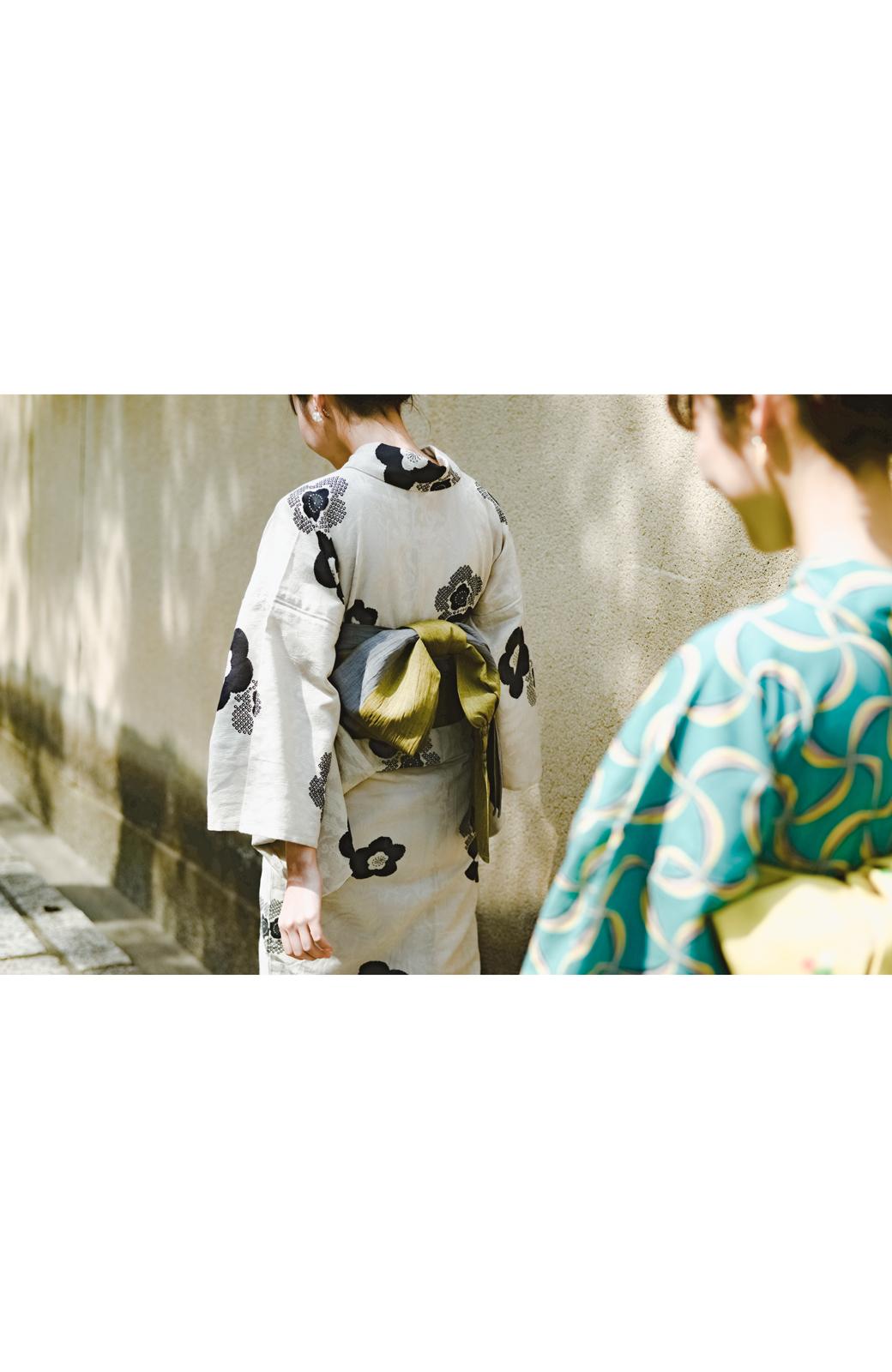 haco! ひでや工房 京都のからみ織ジャカード浴衣 <ブラック系その他>の商品写真38