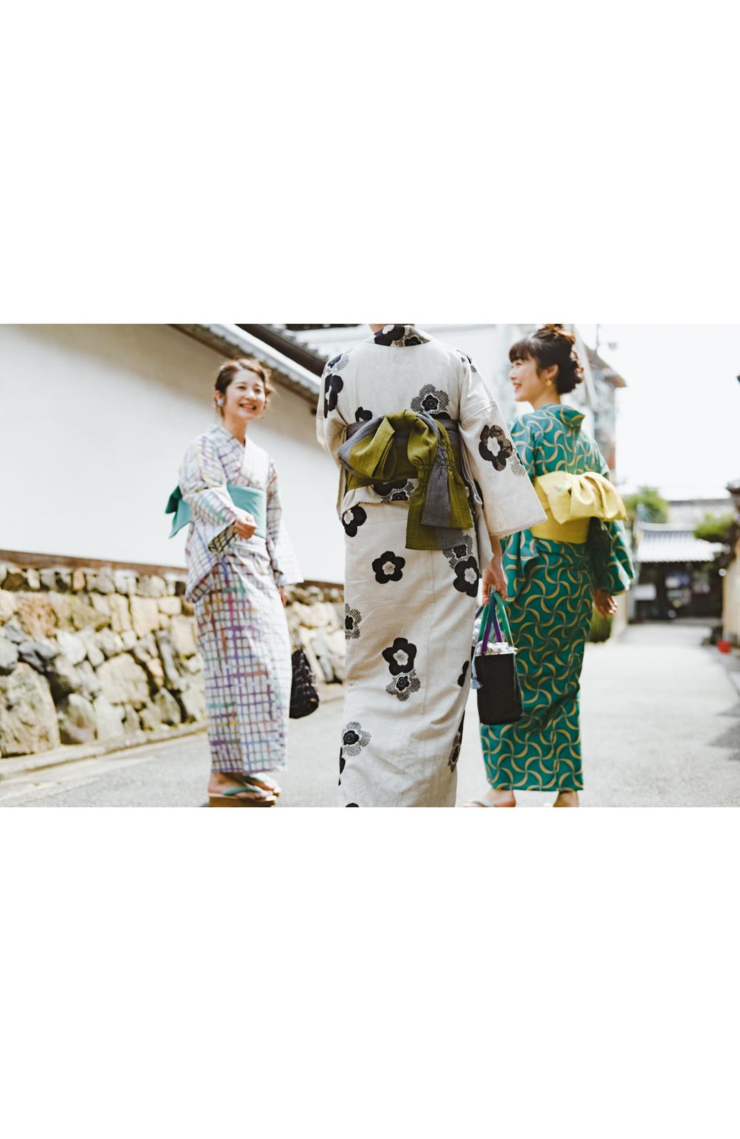 haco! ひでや工房 京都のからみ織ジャカード浴衣 <ブラック系その他>の商品写真39