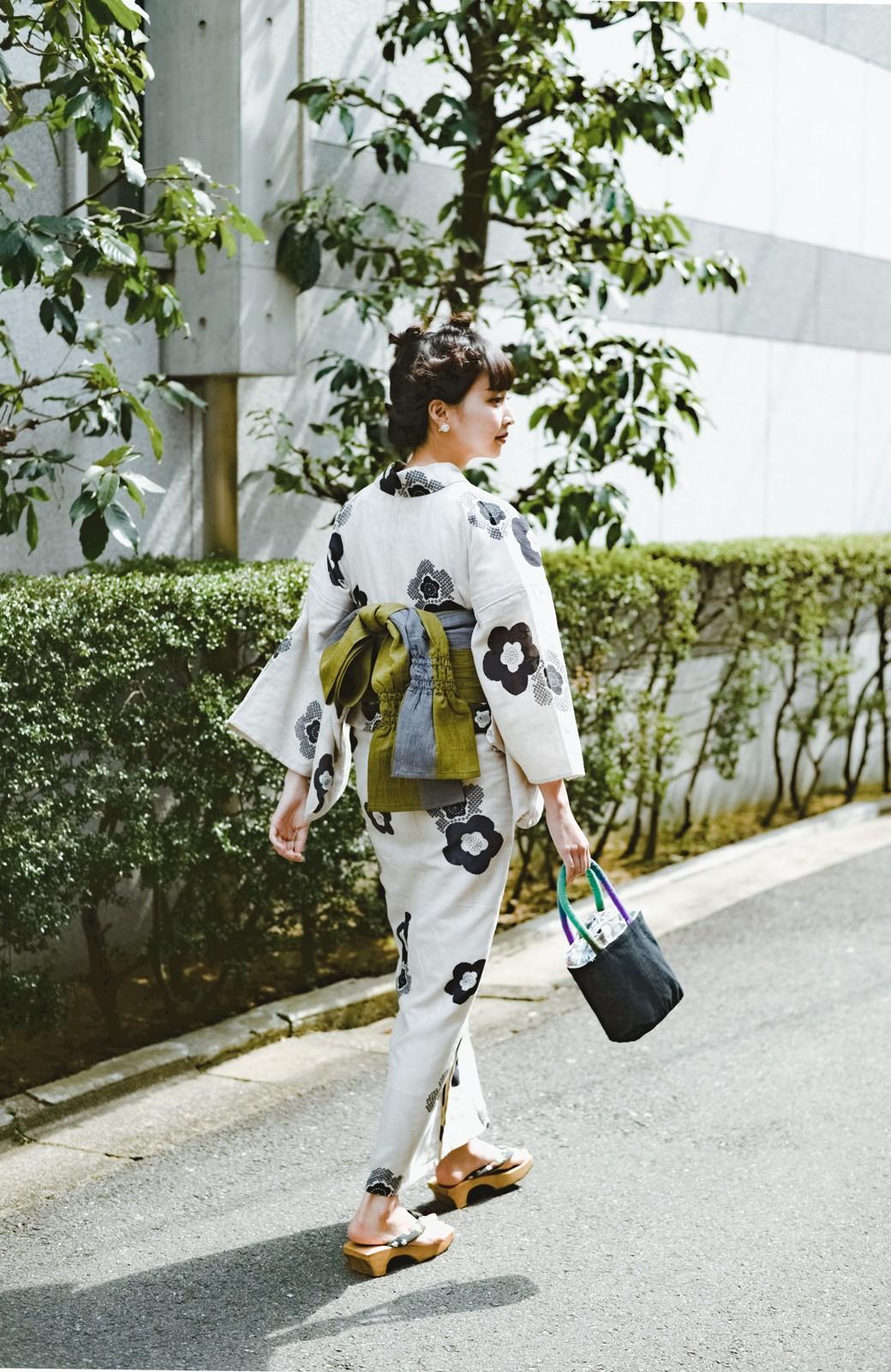 haco! ひでや工房 京都のからみ織ジャカード浴衣 <ブラック系その他>の商品写真40