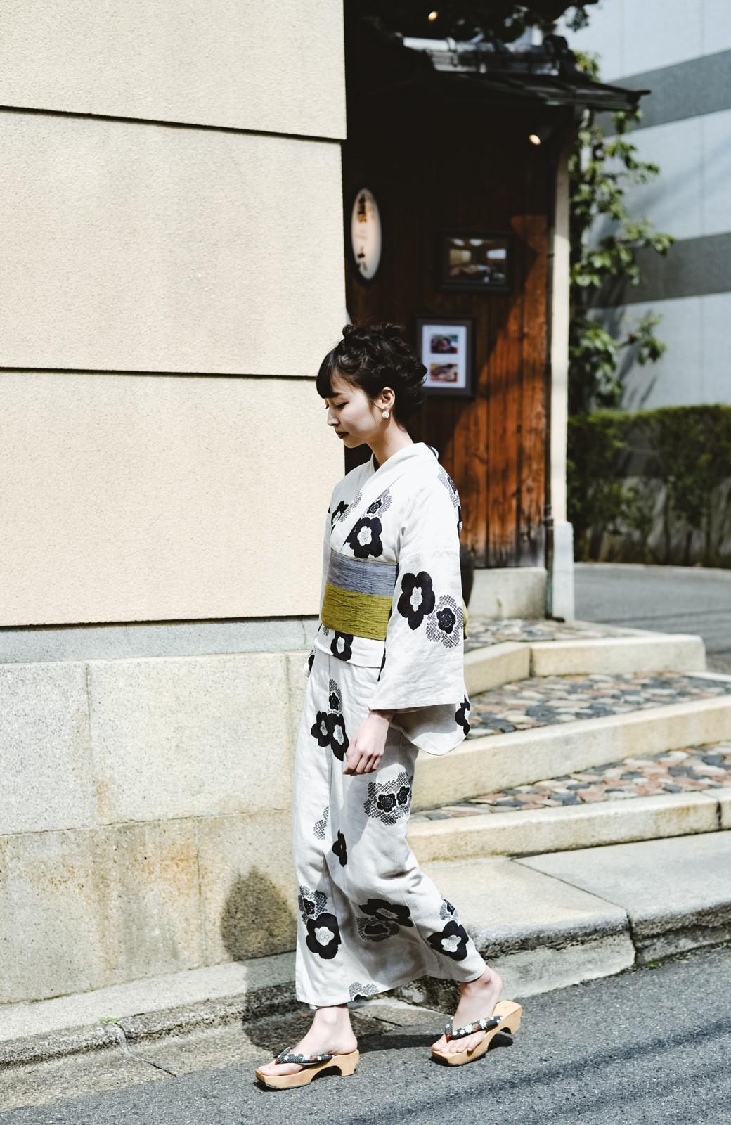 haco! ひでや工房 京都のからみ織ジャカード浴衣 <ブラック系その他>の商品写真41