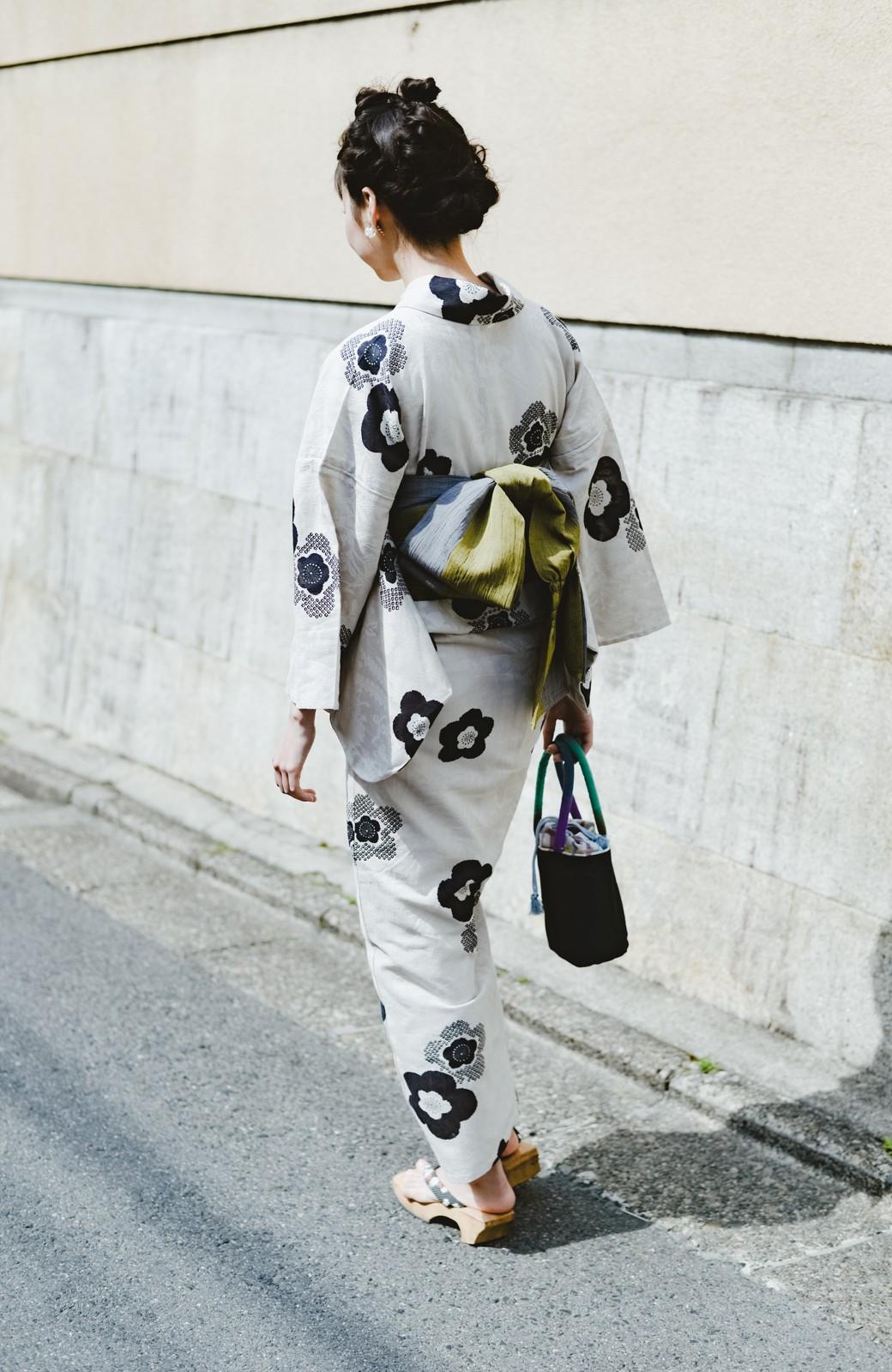 haco! ひでや工房 京都のからみ織ジャカード浴衣 <ブラック系その他>の商品写真42