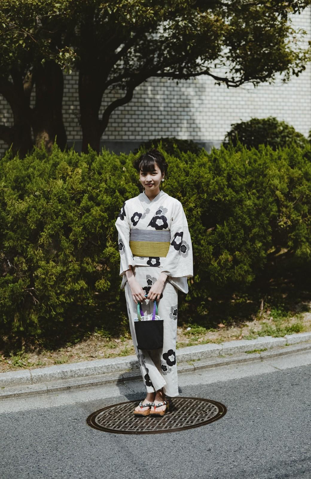 haco! ひでや工房 京都のからみ織ジャカード浴衣 <ブラック系その他>の商品写真43