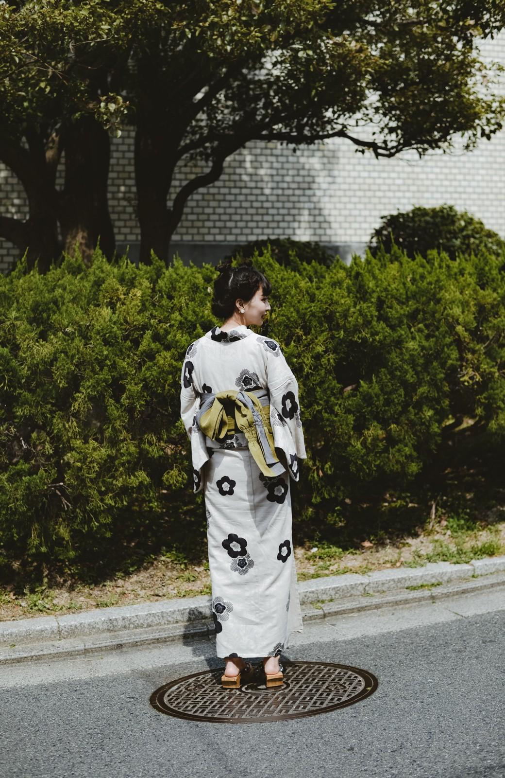 haco! ひでや工房 京都のからみ織ジャカード浴衣 <ブラック系その他>の商品写真45
