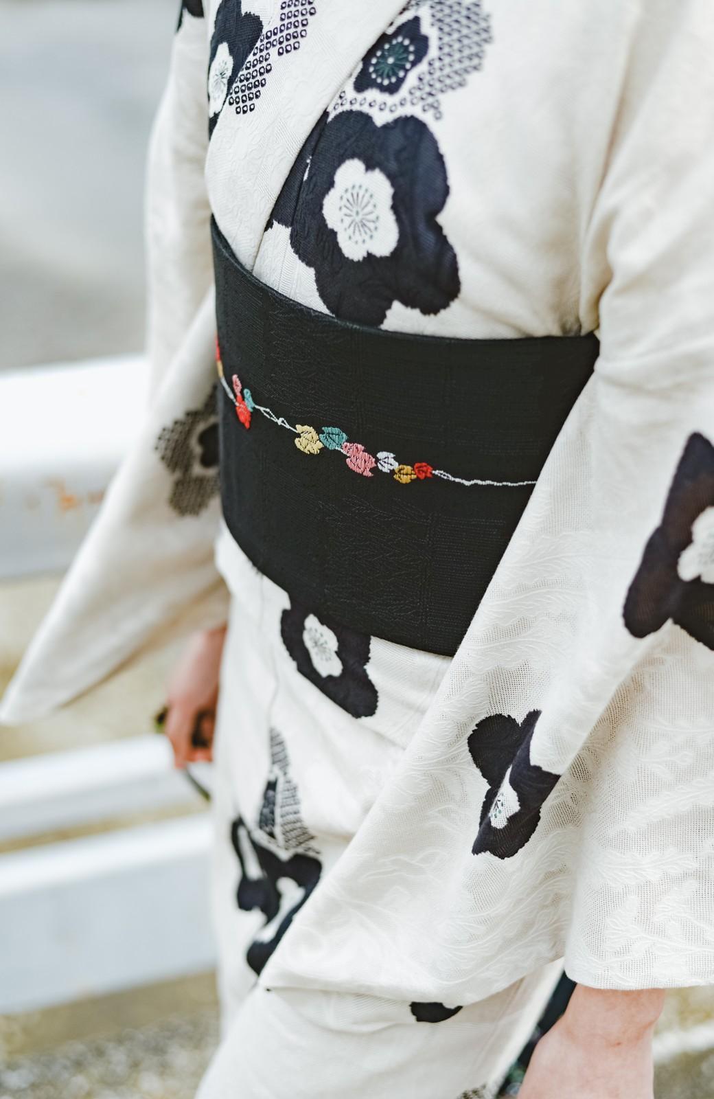 haco! ひでや工房 京都のからみ織ジャカード浴衣 <ブラック系その他>の商品写真11