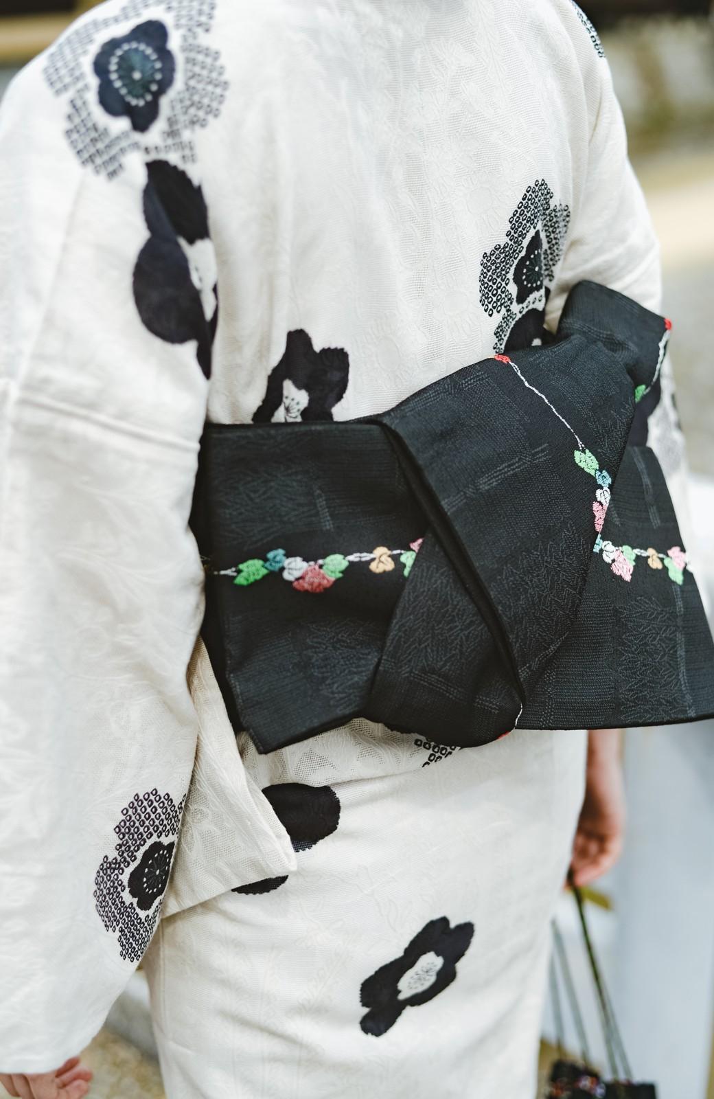 haco! ひでや工房 京都のからみ織ジャカード浴衣 <ブラック系その他>の商品写真12