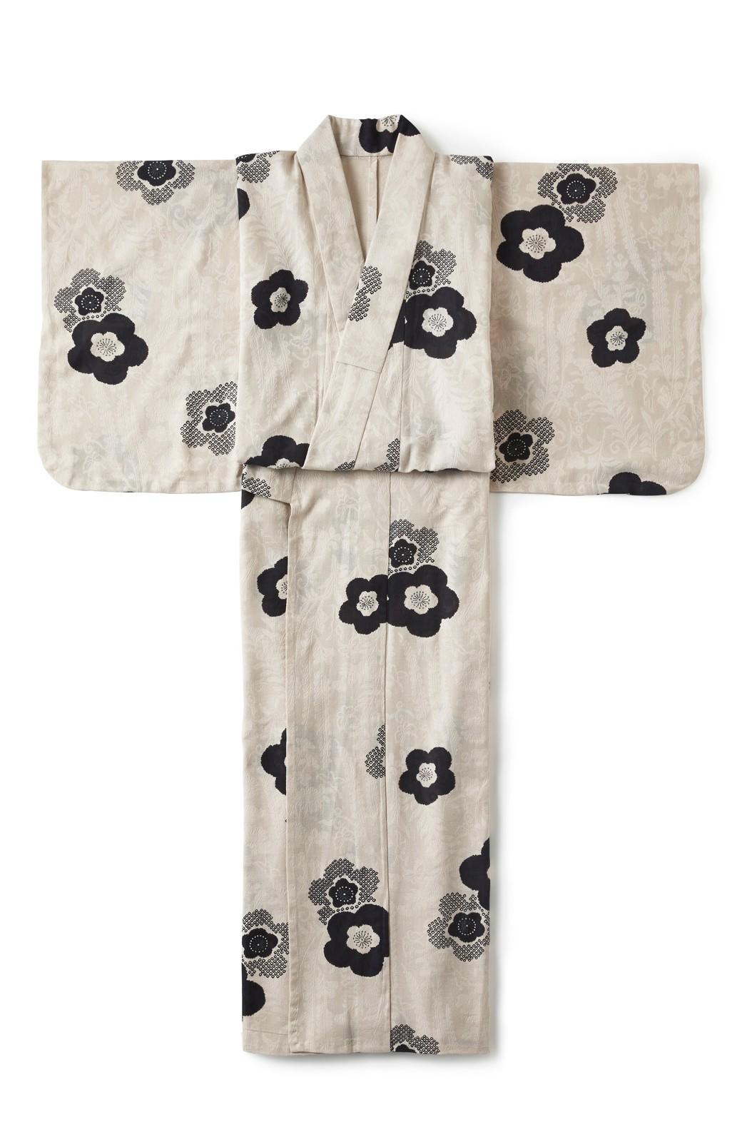 haco! ひでや工房 京都のからみ織ジャカード浴衣 <ブラック系その他>の商品写真2