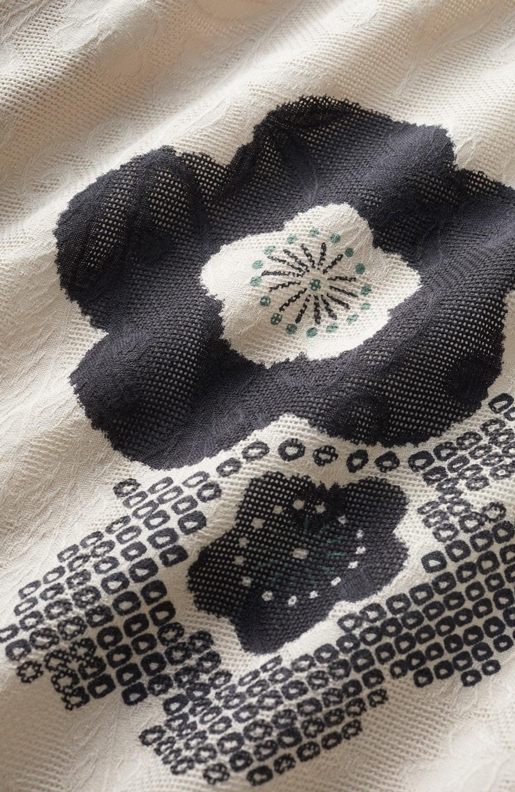 haco! ひでや工房 京都のからみ織ジャカード浴衣 <ブラック系その他>の商品写真3